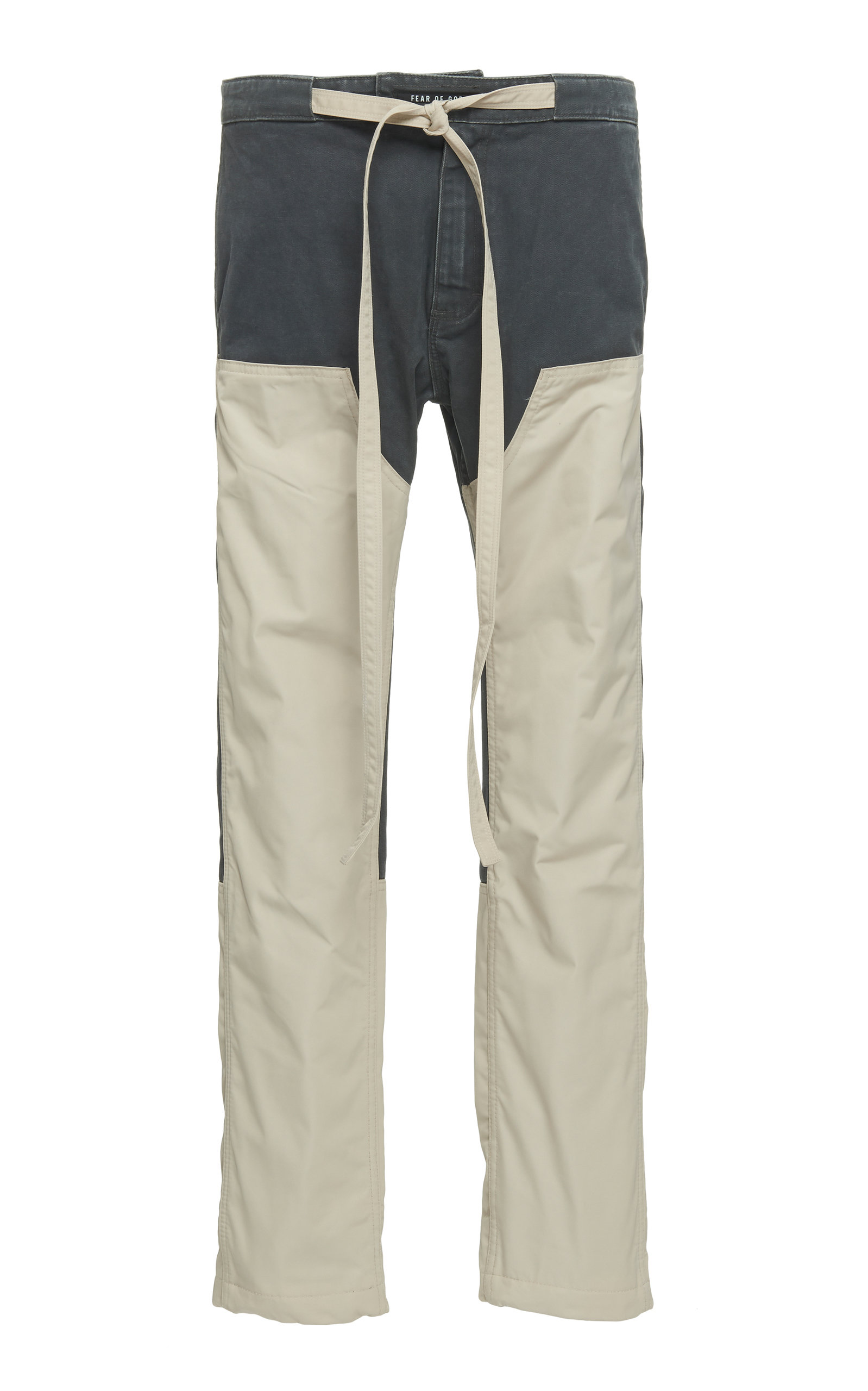 Two Tone Shell Paneled Canvas Tapered Pants by Fear Of God