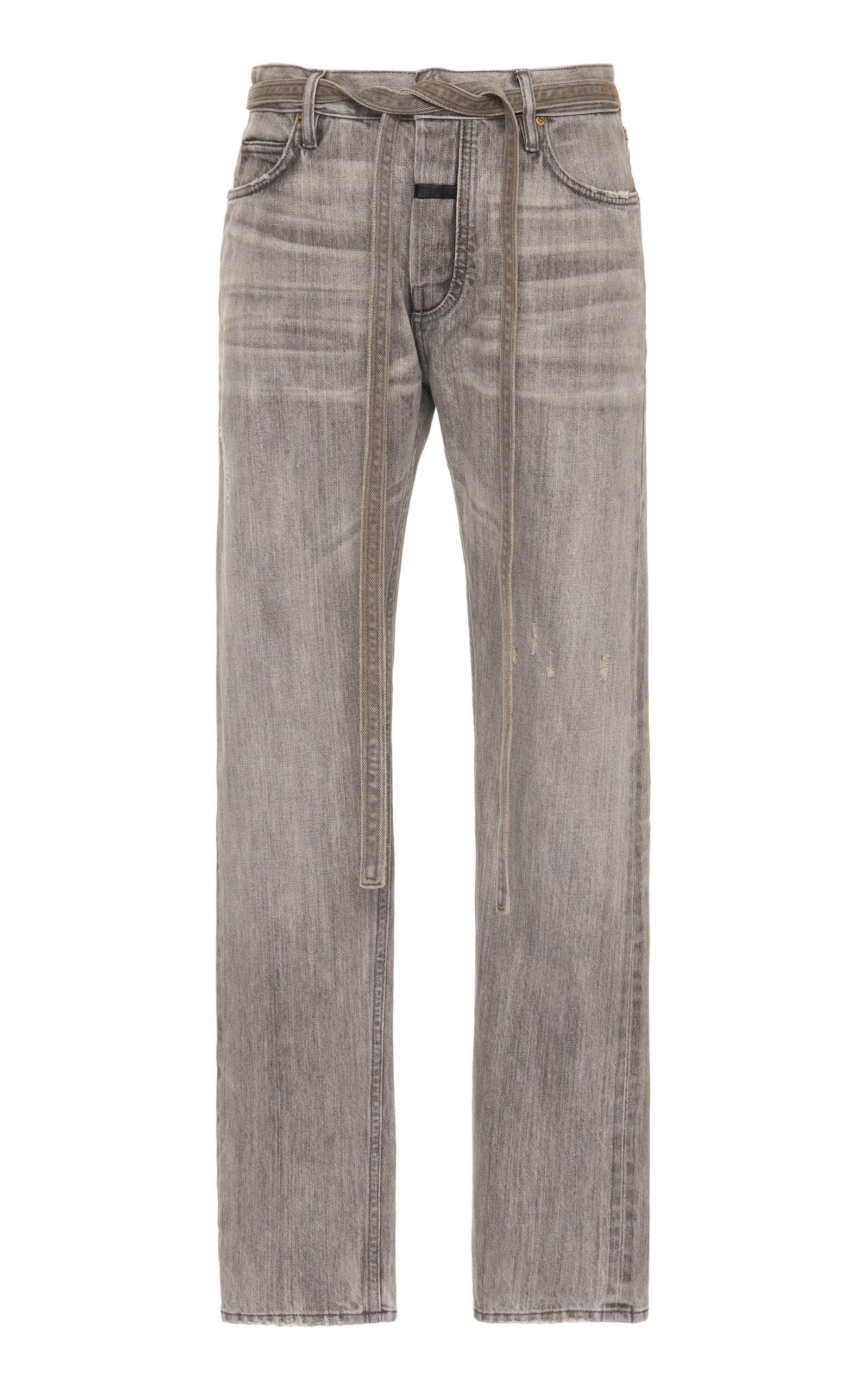 Fear Of God Jeans Belted Slim-Fit Denim Jeans