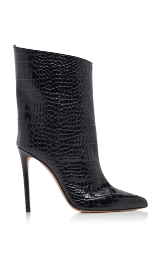 ALEXANDRE VAUTHIER | Alexandre Vauthier Alex Croc-Effect Leather Ankle Boots | Goxip