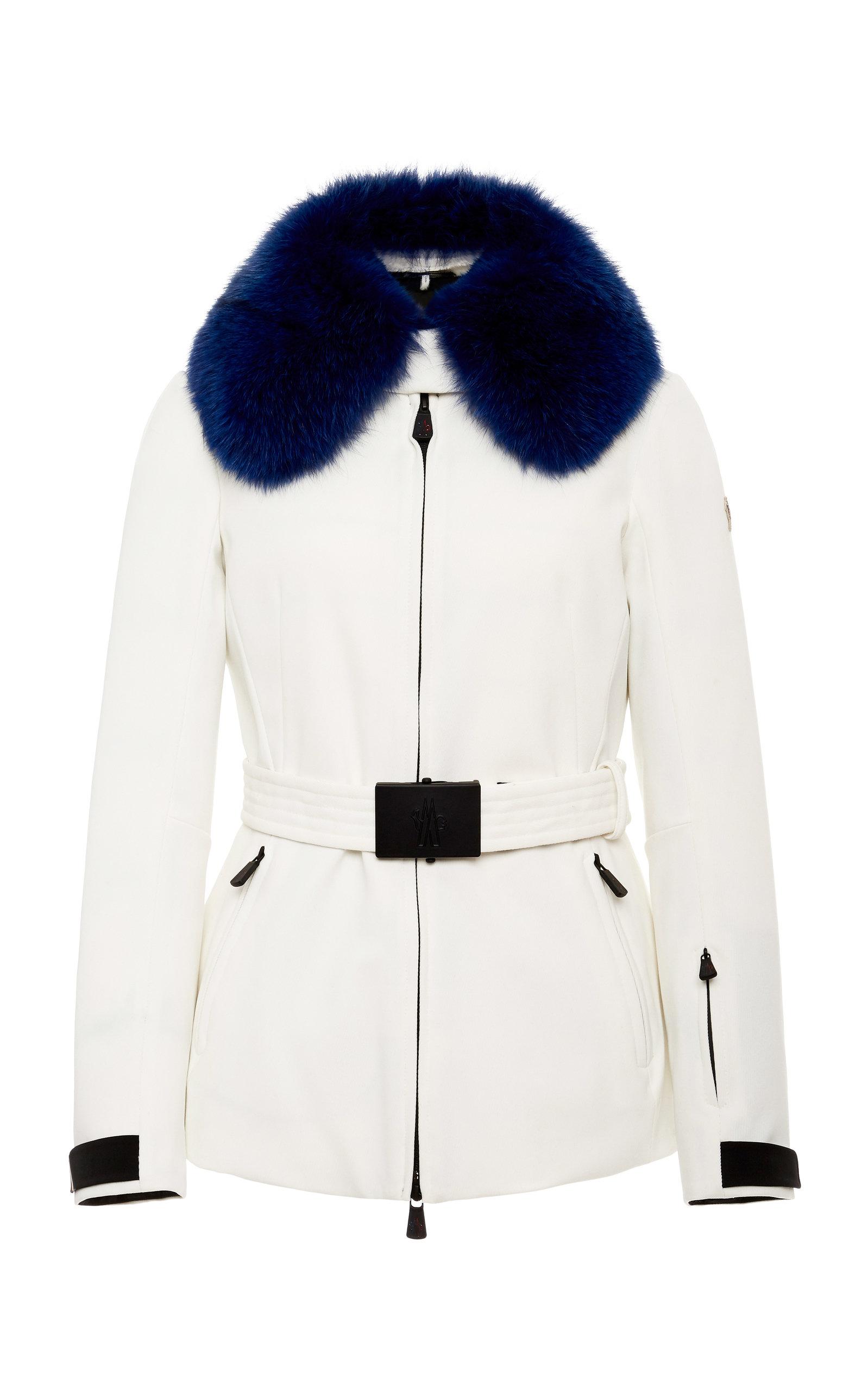 Moncler Grenoble Jackets Fur-Trimmed Belted Shell Ski Jacket