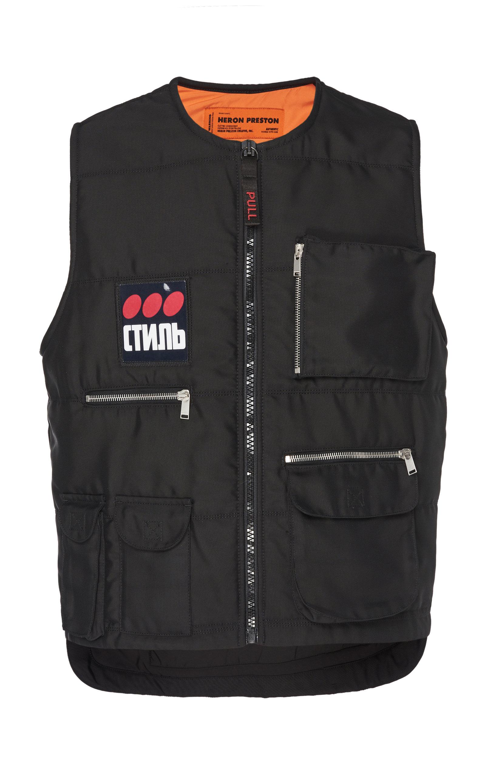 Heron Preston Coats Multipocket Utilitarian Nylon Vest