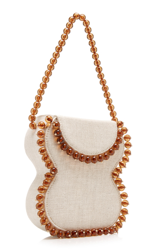 b5051c2a6ce257 PREORDER. by FAR. Frida Beaded Linen Shoulder Bag. $682. 1; 2. Women ·  Hermes Vintage; Chanel Fuchsia Pink Metallic Patent Small Boy Bag