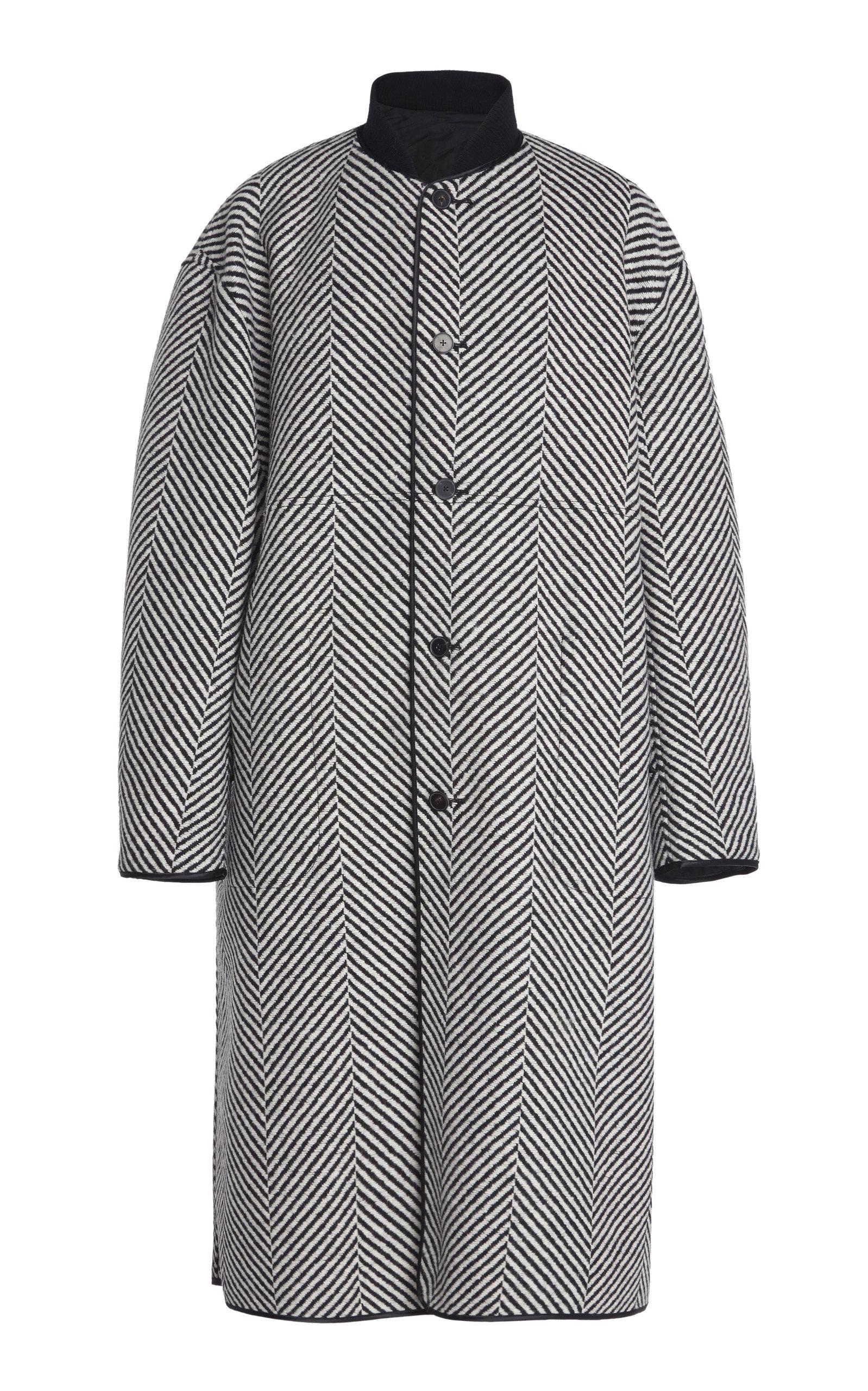 Haider Ackermann Coats REVERSIBLE HERRINGBONE WOOL COAT