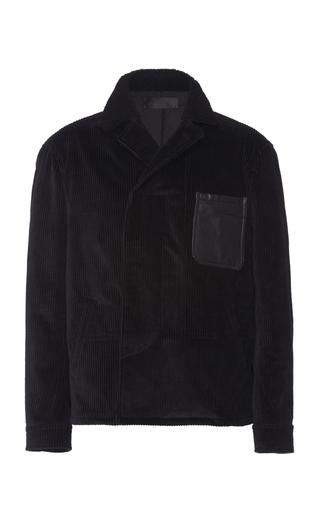 Haider Ackermann Leather Patch Shirt Jacket In 099 Nero