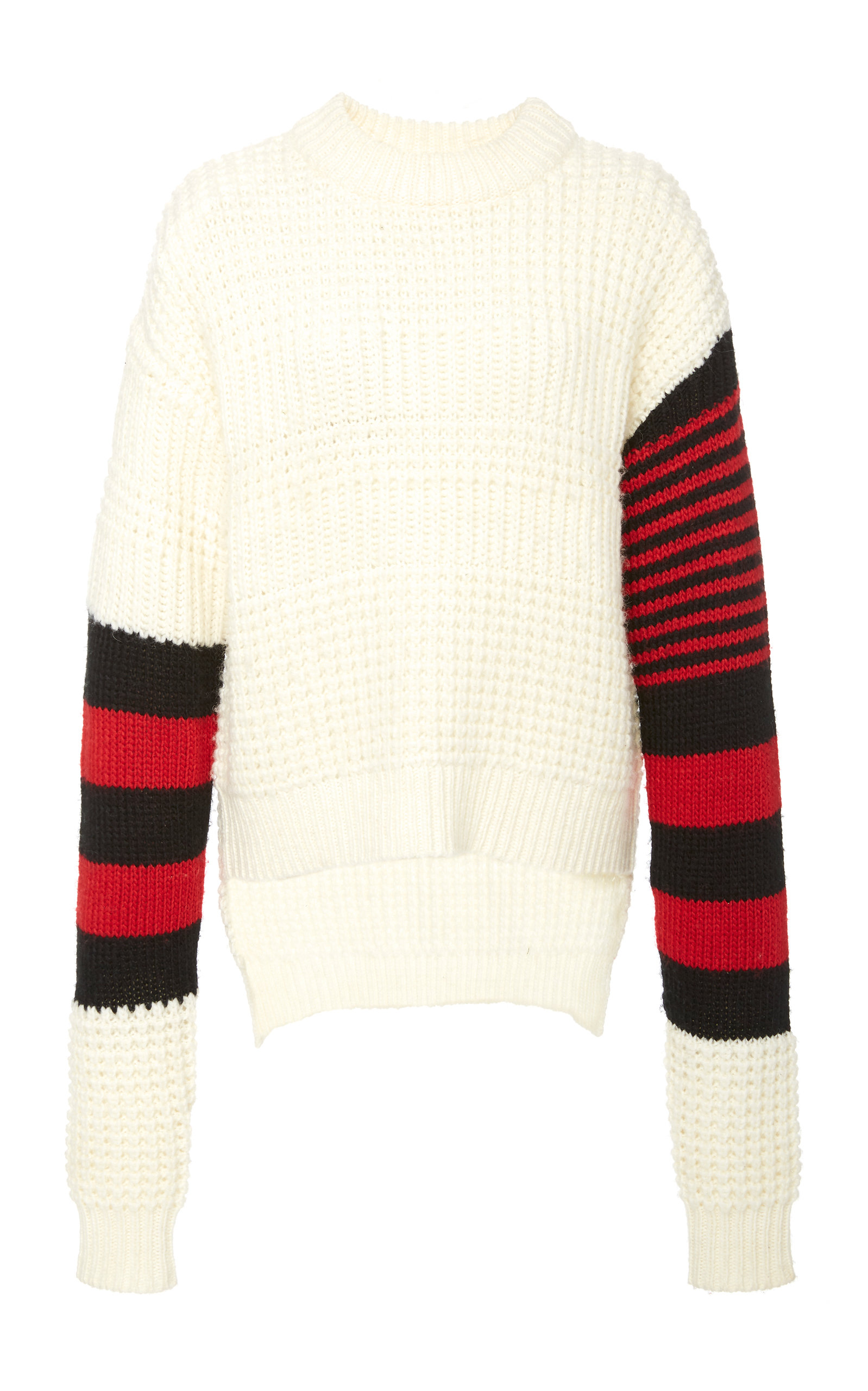PREEN LINE   Preen Line Nara Striped Waffle-Knit Sweater   Goxip