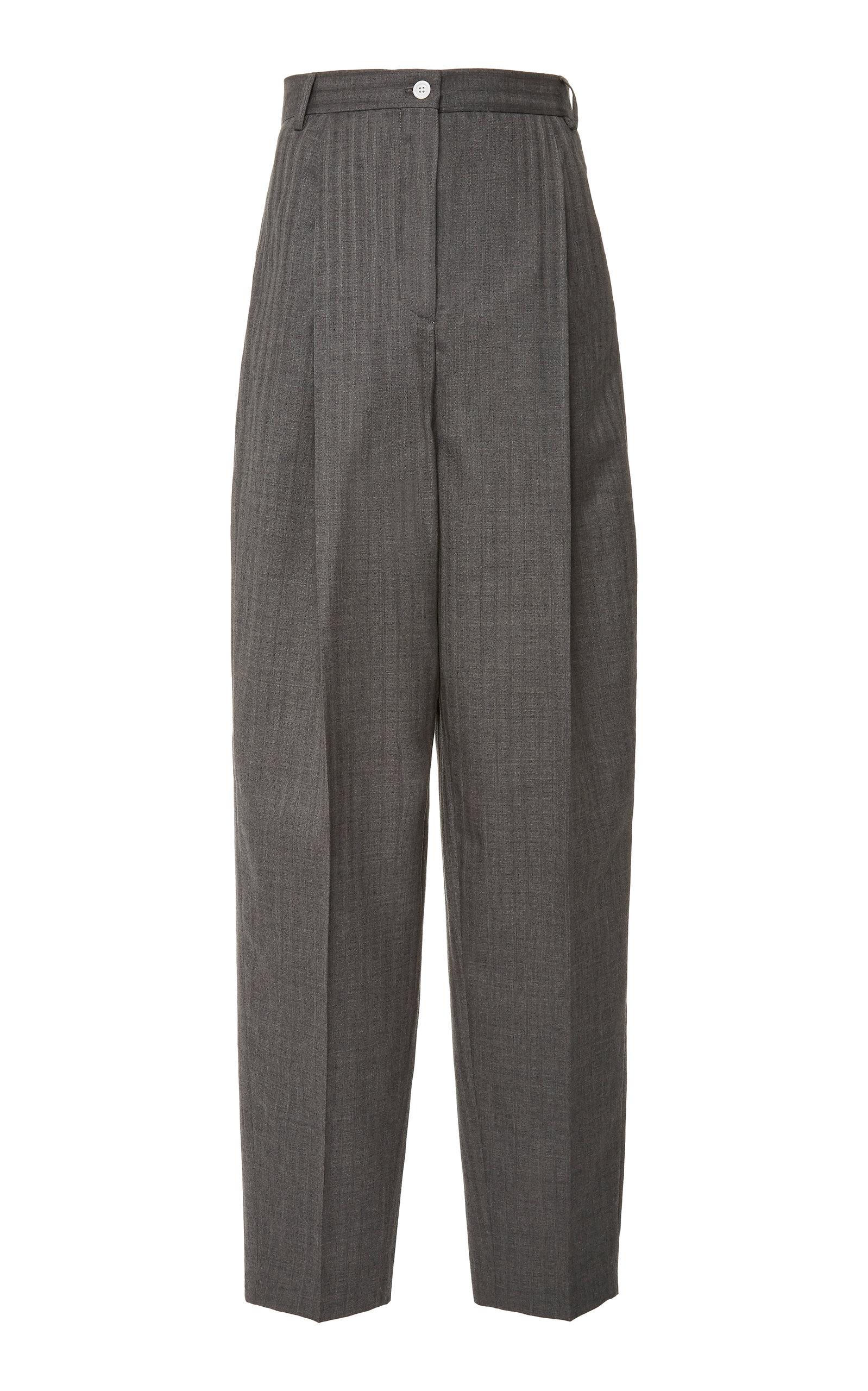 Acne Studios Pants Peggerine Striped Wool Pants