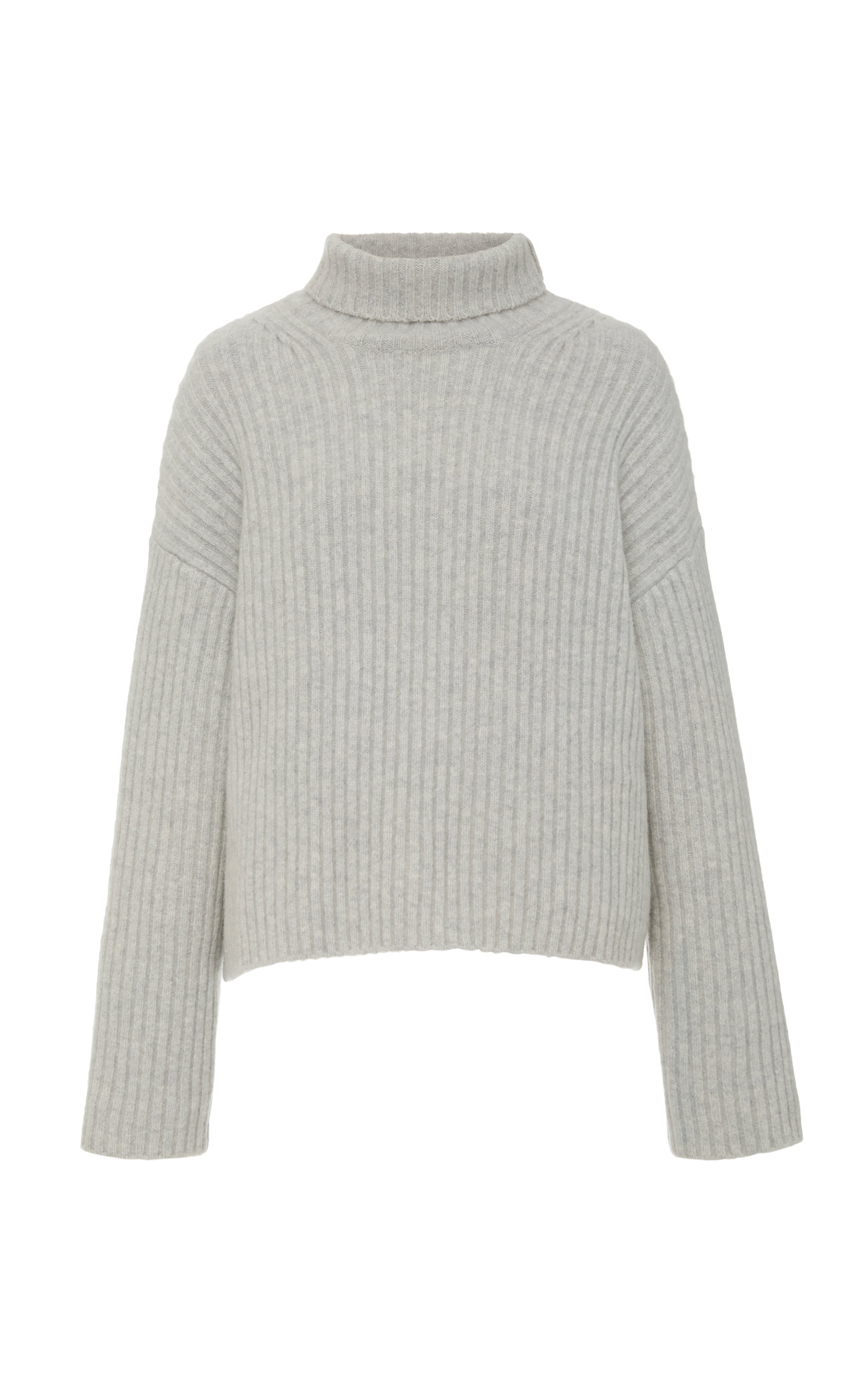Joseph Sweaters Ribbed Cashmere-Blend High Neck Sweater