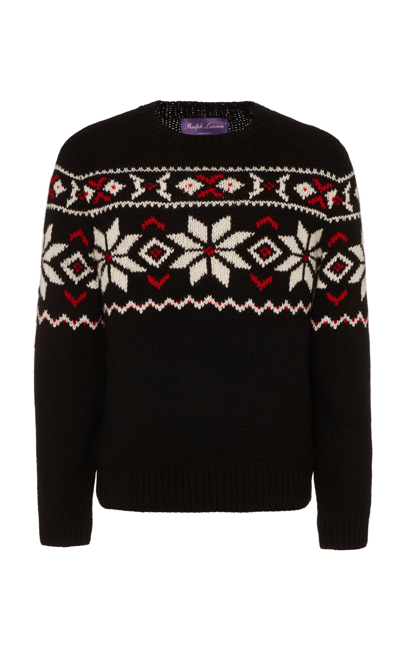 Ralph Lauren Knits Intarsia Knit Cashmere Sweater