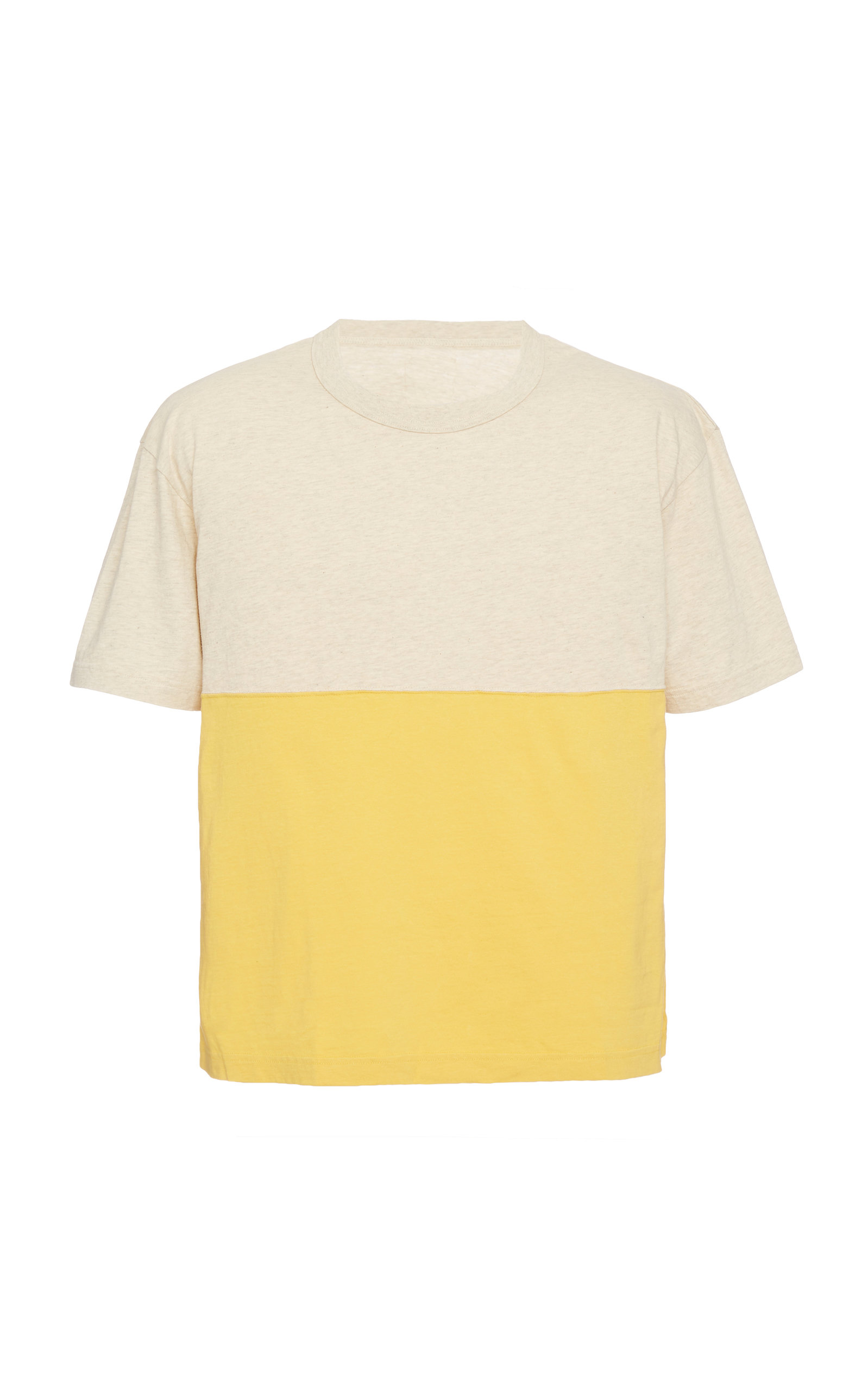 Visvim T-shirts Oversized Two-Tone Cotton T-Shirt