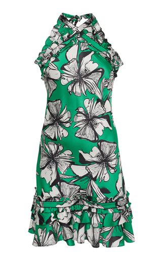 b1b344dc4c74 PREORDER · AlexisErica Floral-Print Satin Halterneck Mini Dress.  395.  ( 197.50 Deposit)
