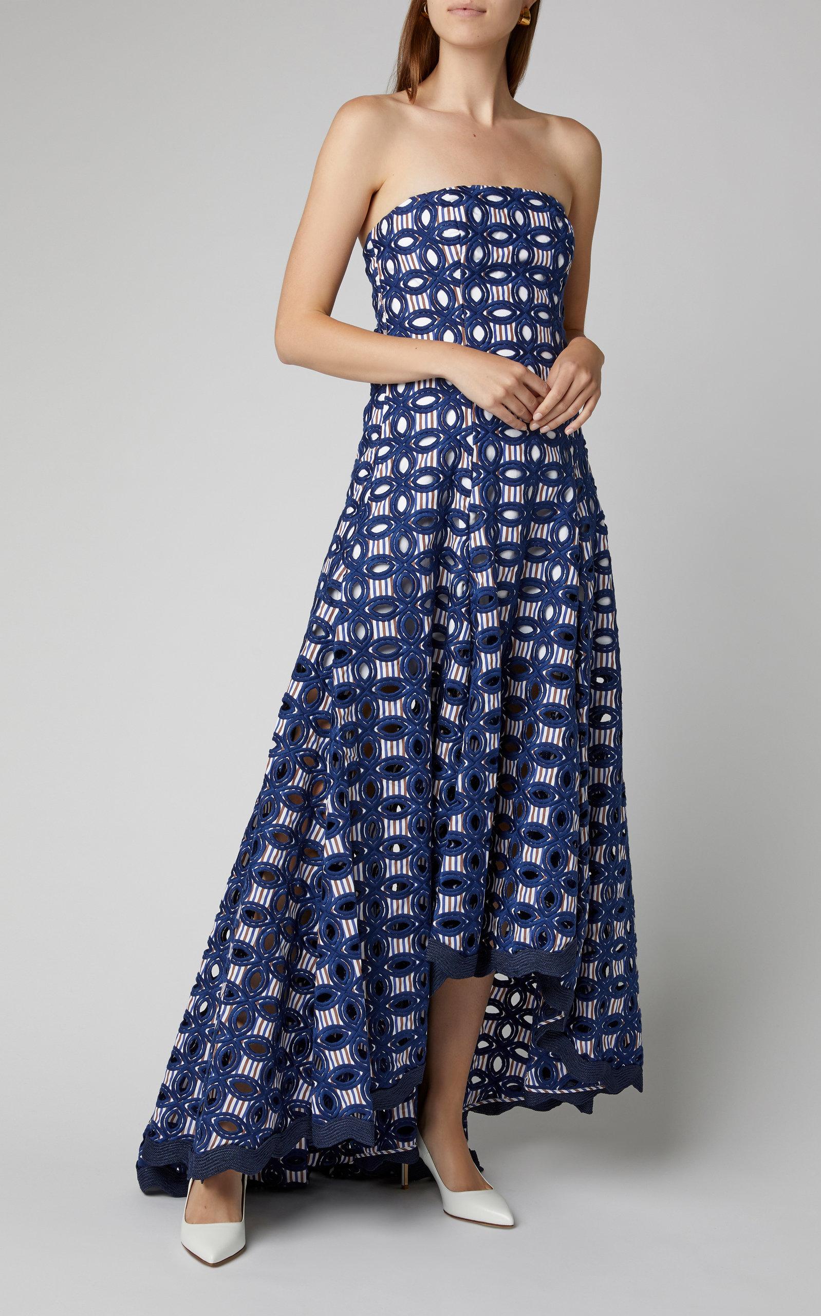 Alexis Dresses Antoni Broderie Anglaise Crepe De Chine Maxi Dress