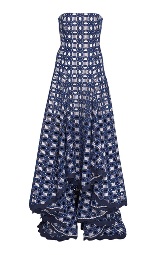 ALEXIS | Alexis Antoni Broderie Anglaise Crepe De Chine Maxi Dress | Goxip