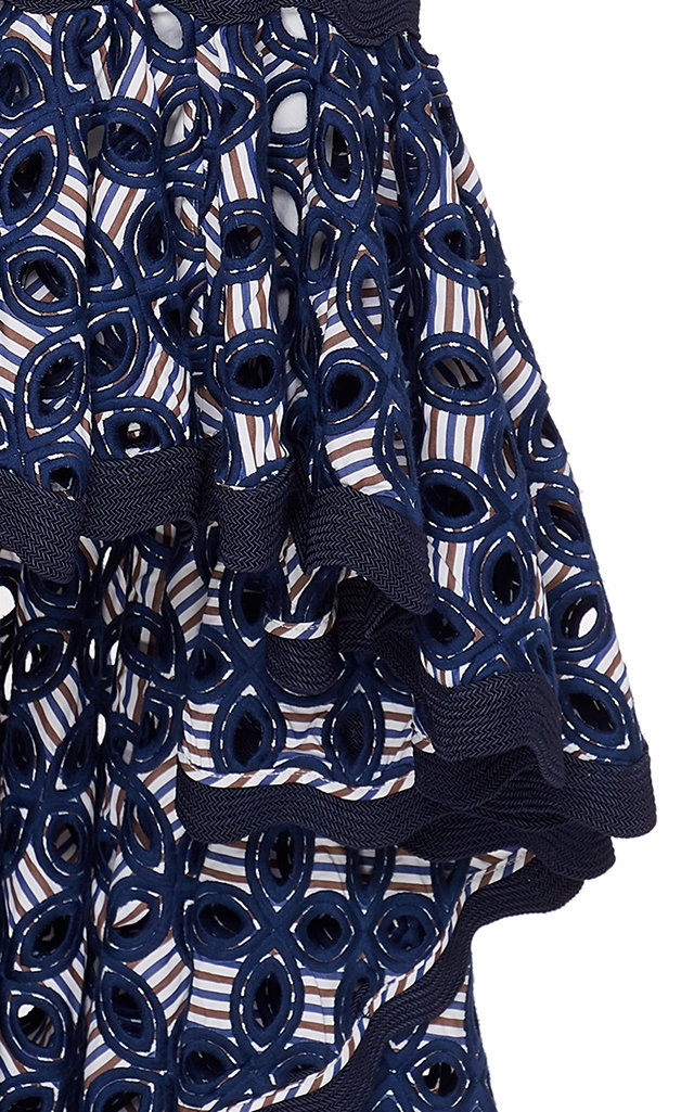 Alexis Dresses Krisna Printed High-Low Crepe De Chine Dress