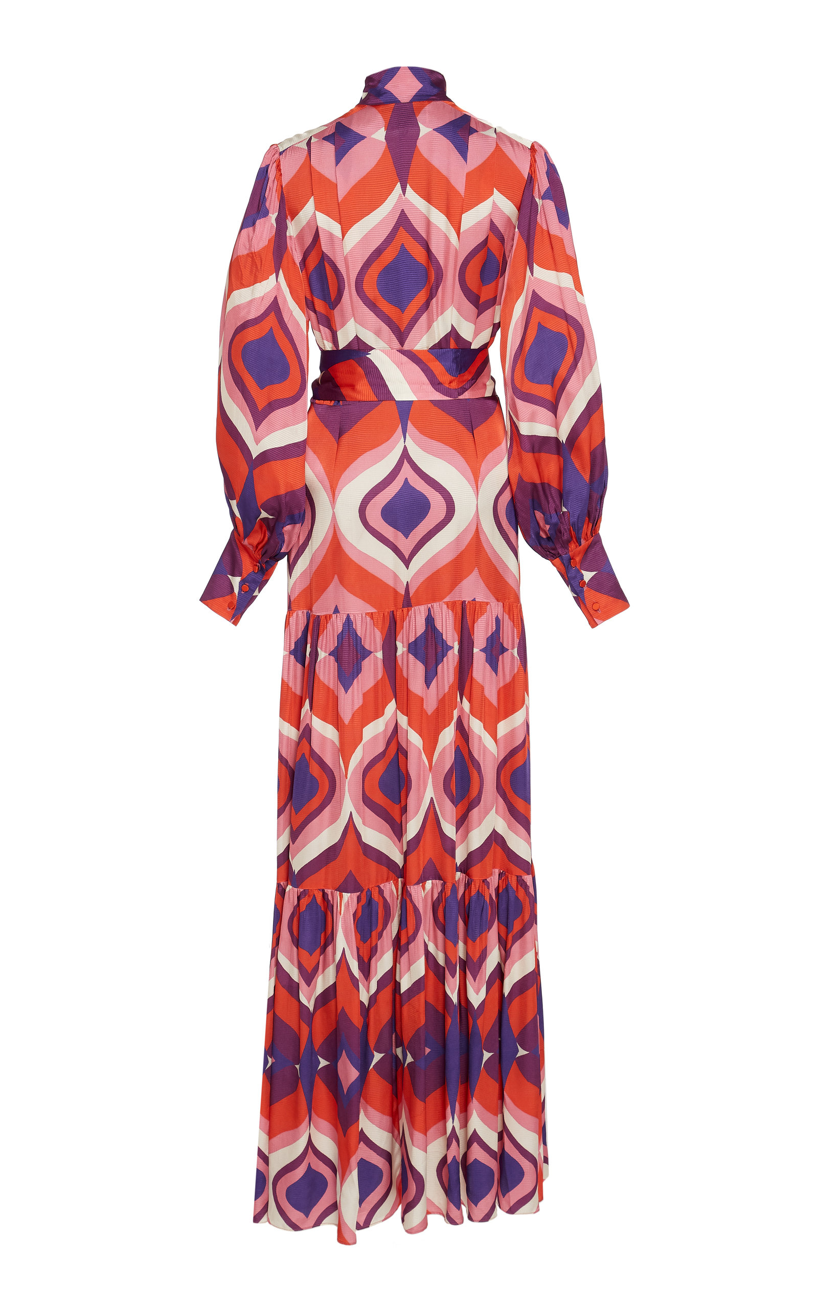 Alexis Dresses Dominica Printed Pleated Crepe Maxi Dress