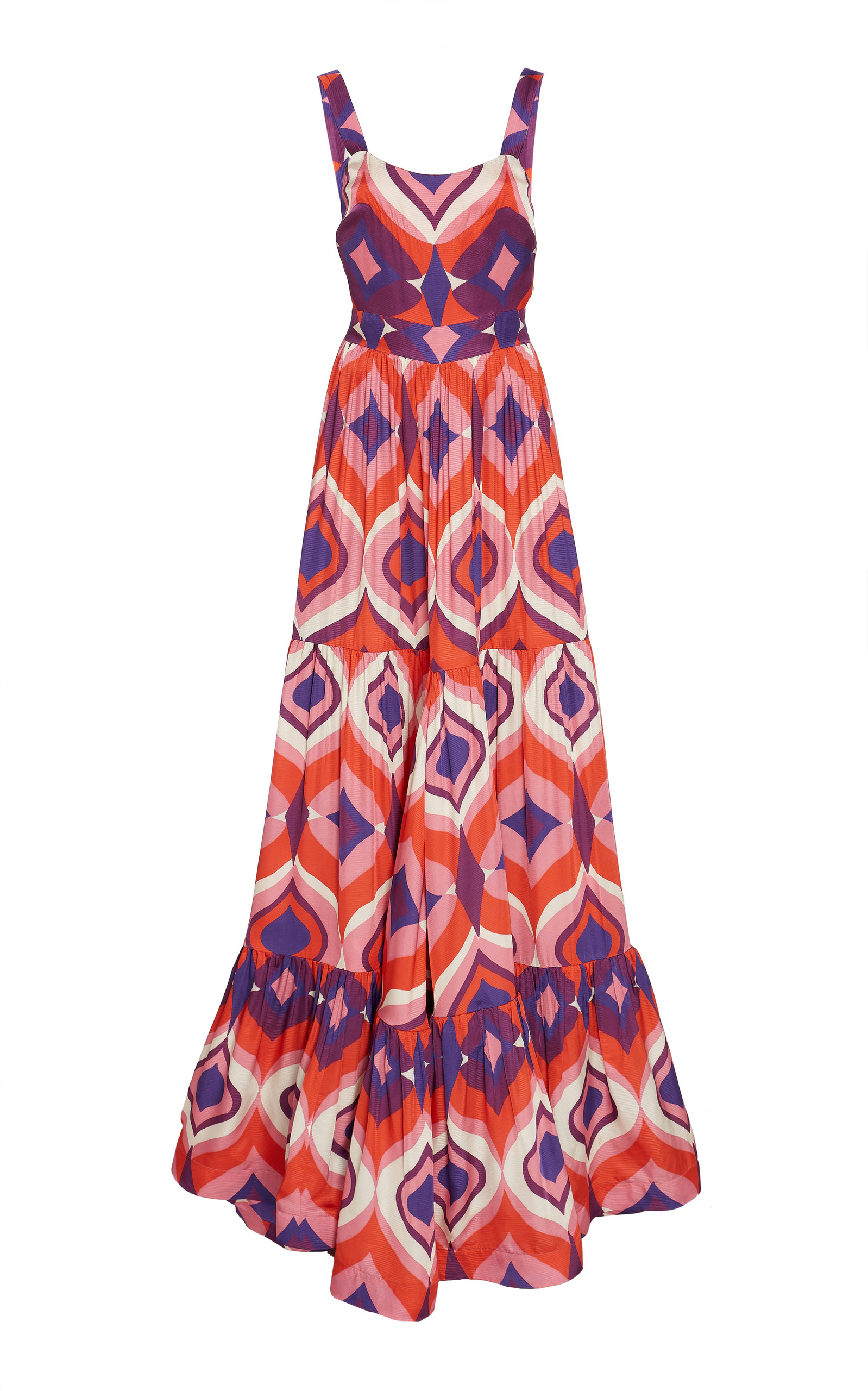 Alexis Dresses Jourdan Printed Crepe Maxi Dress