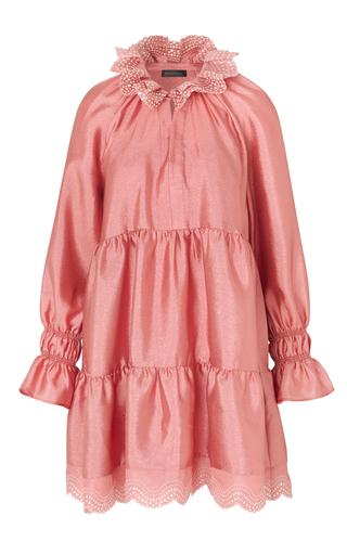 Stine Goya Daki Tiered Long-sleeve Shift Dress In Pink