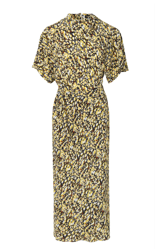 Stine Goya Rhode Floral-print Silk-crepe Midi Dress