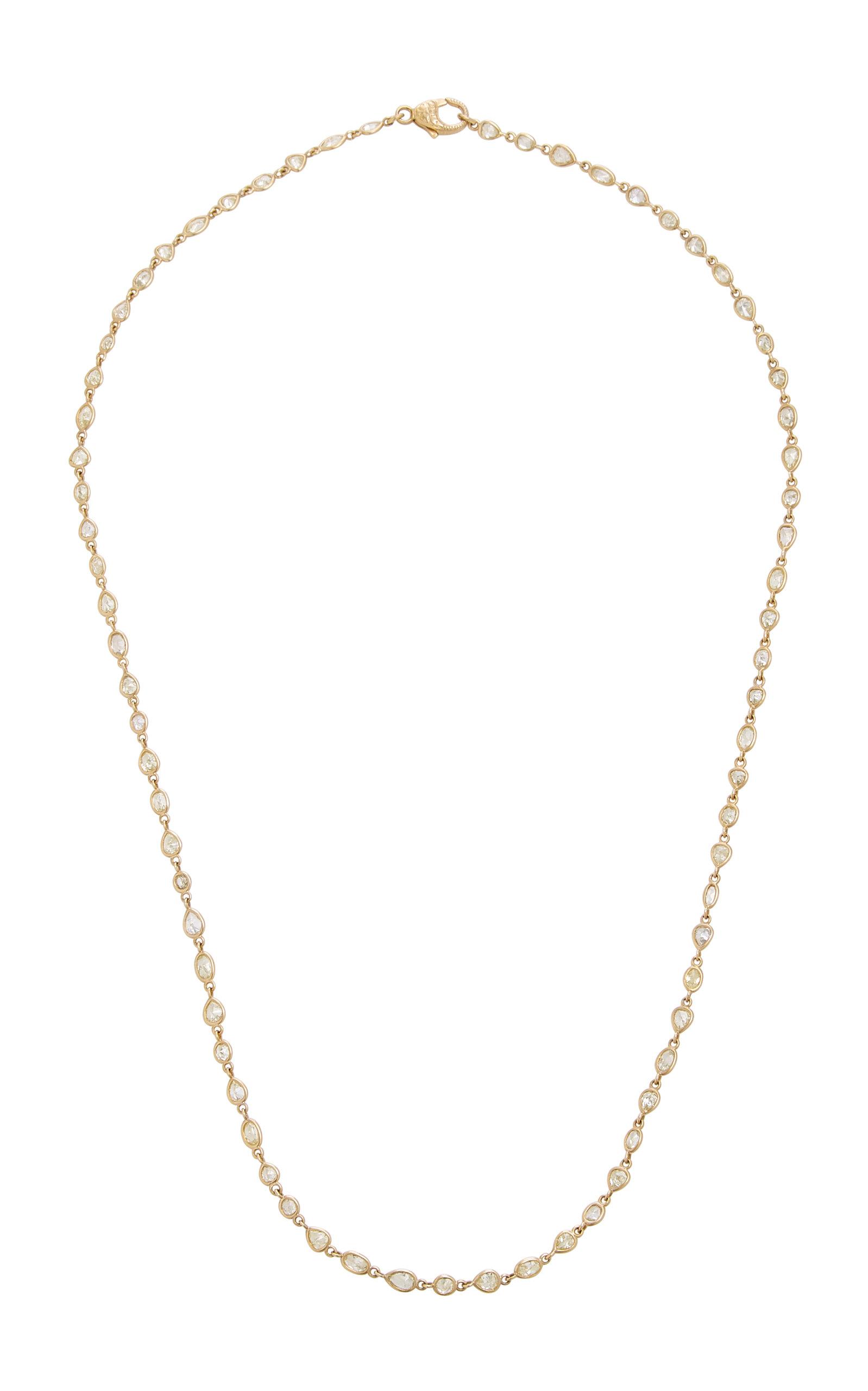 SYLVA & CIE | Sylva & Cie 18K Gold Diamond Necklace | Goxip