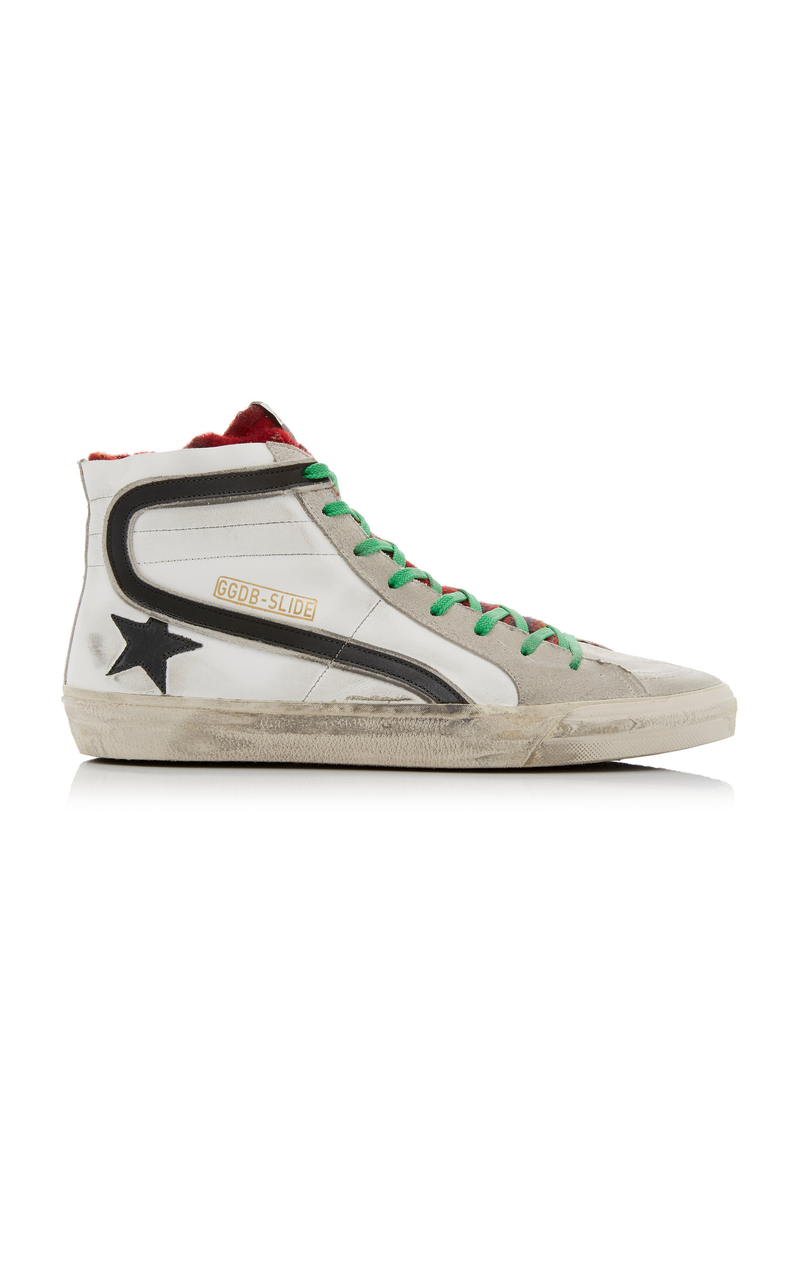 Golden Goose Sneakers High-Top Multi-Color Leather Sneakers