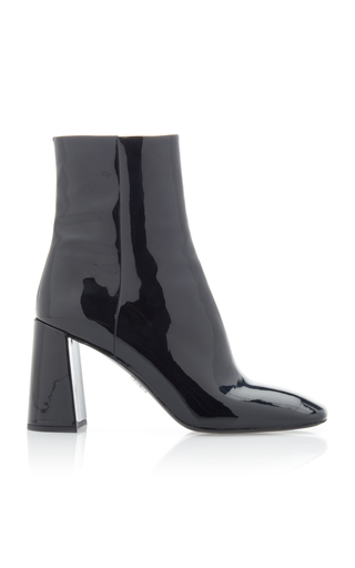 PRADA | Prada Patent-Leather Ankle Boot | Goxip