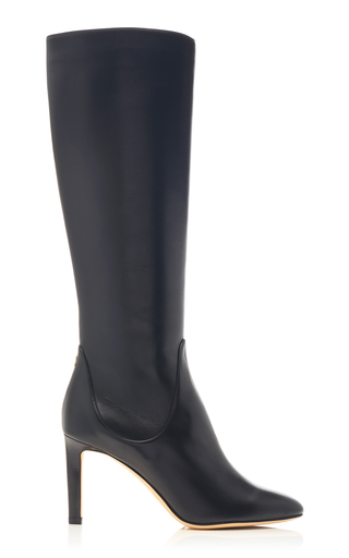 Jimmy Choo Tempe 85 Leather Knee-High Boots In Black