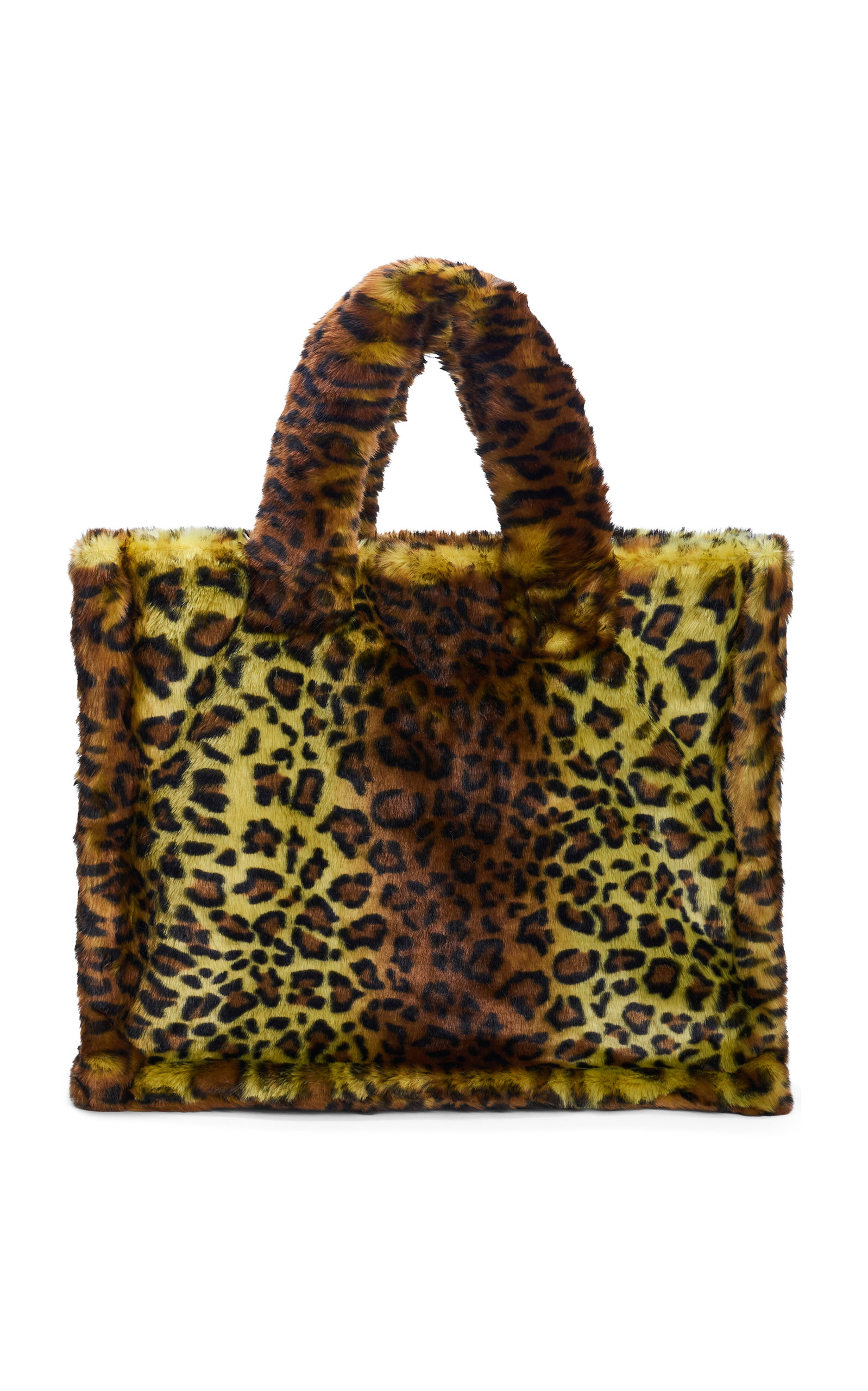 Lola Large Leopard Print Faux Fur Tote by Stand Studio