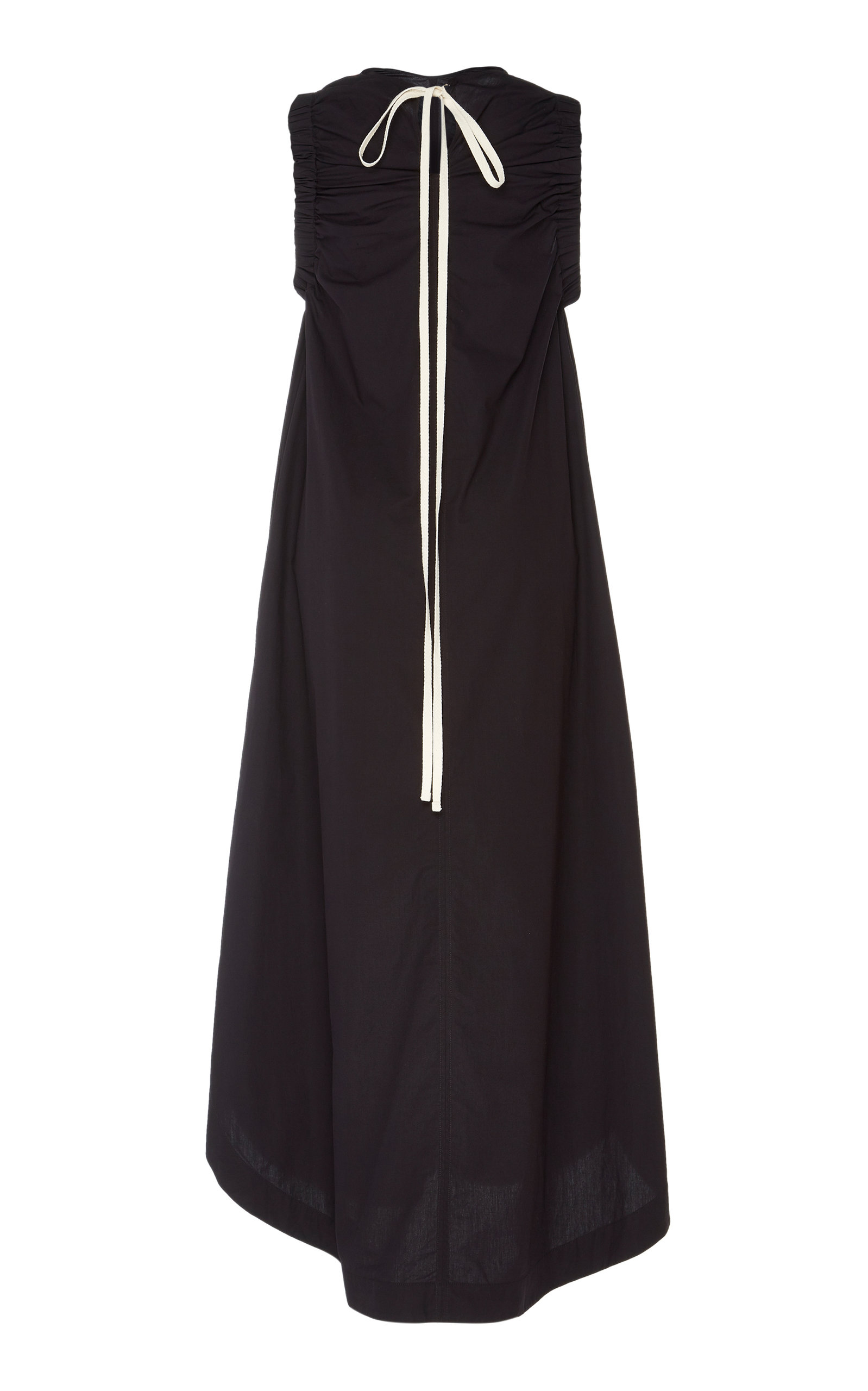 Lee Mathews Dresses Elsie Ruched Cotton-Blend Midi Dress