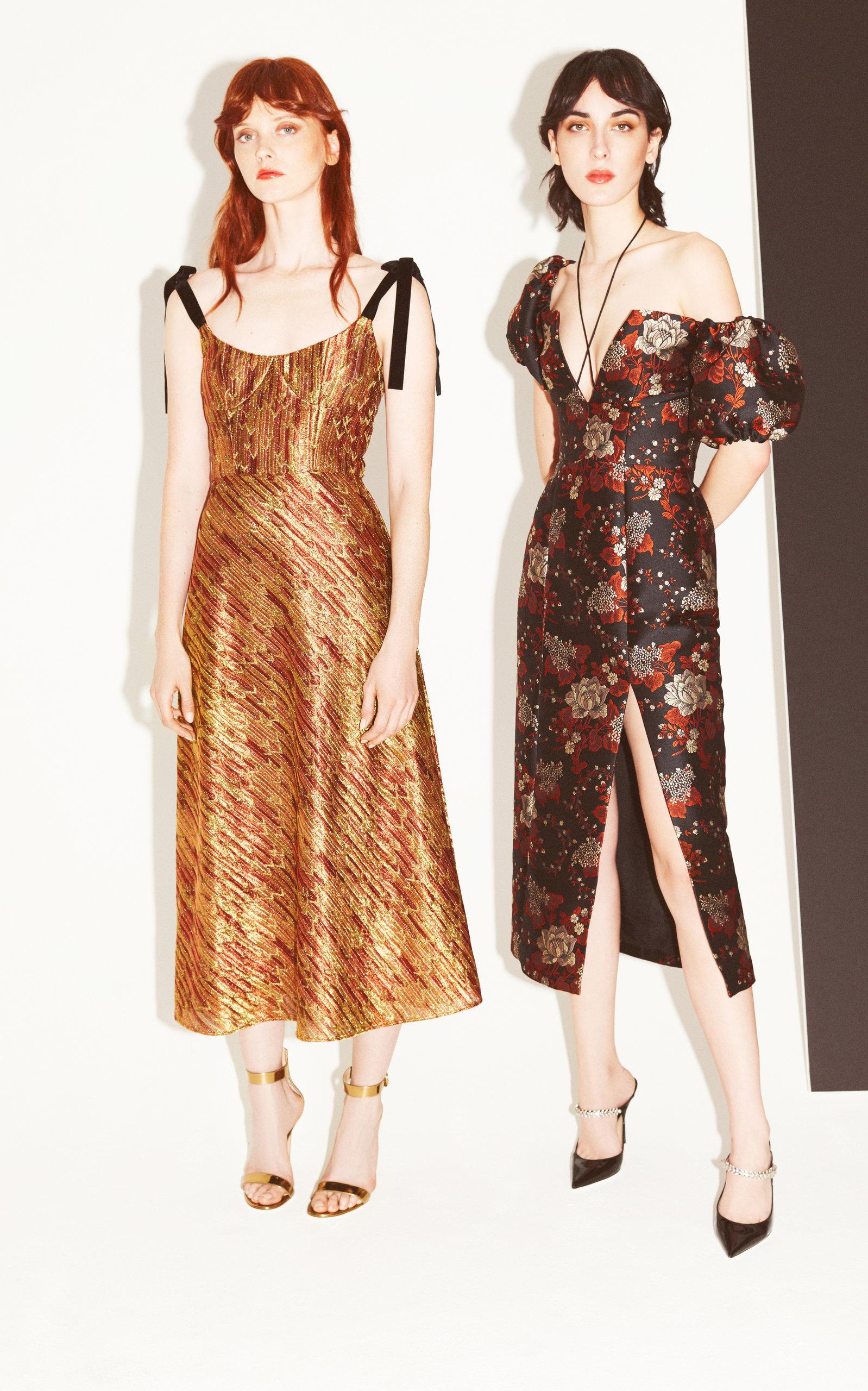 Exclusive Lets Groove Brocade Midi Dress