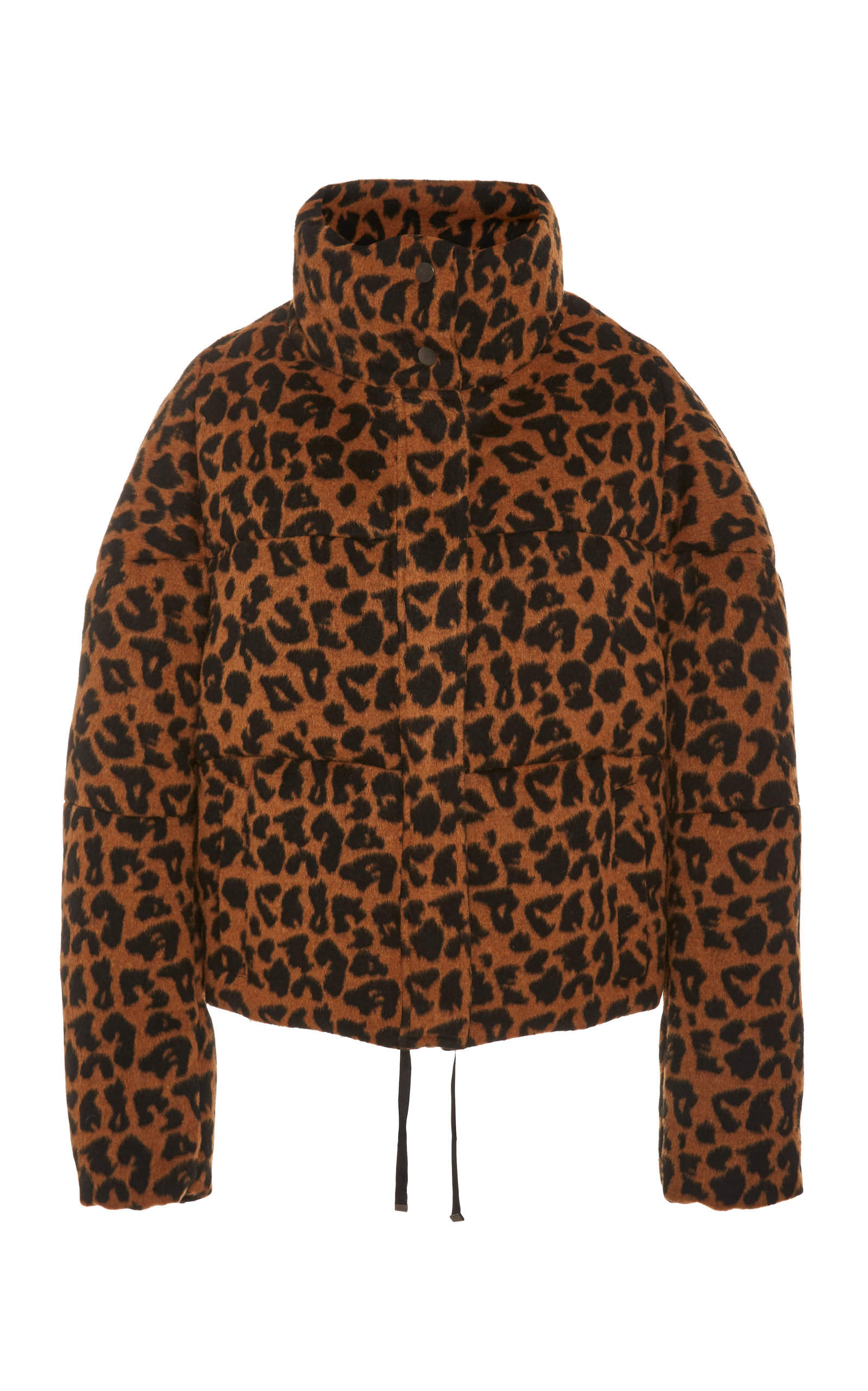 Apparis Coats QUILTED PRINTED BRUSHED-FELT COAT SIZE: M