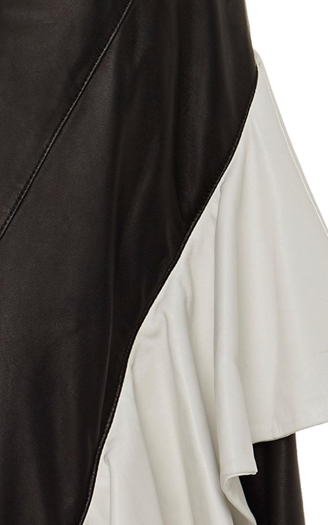 398a682783 RodarteRuffled A-Line Leather Midi Skirt. CLOSE. Loading. Loading. Loading.  Loading
