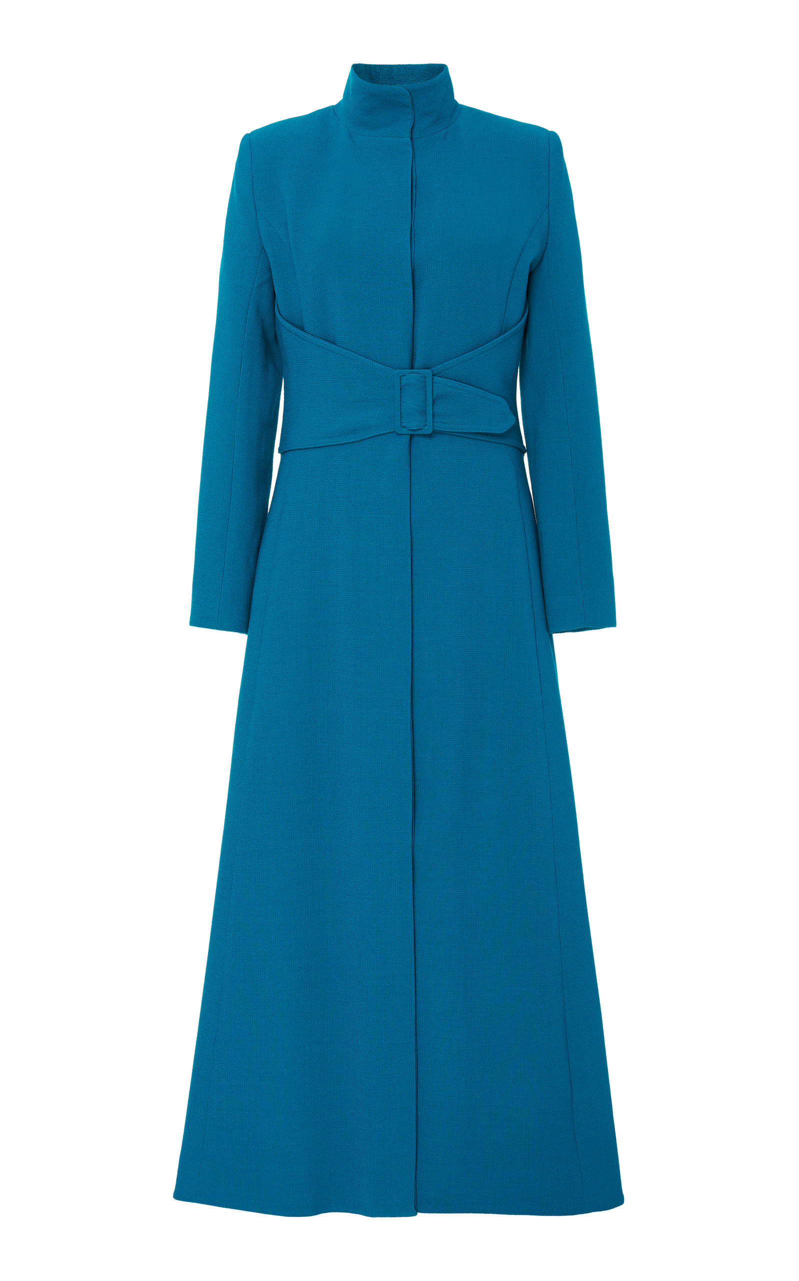 Rebecca De Ravenel Dresses BELTED LONGLINE WOOL DRESS