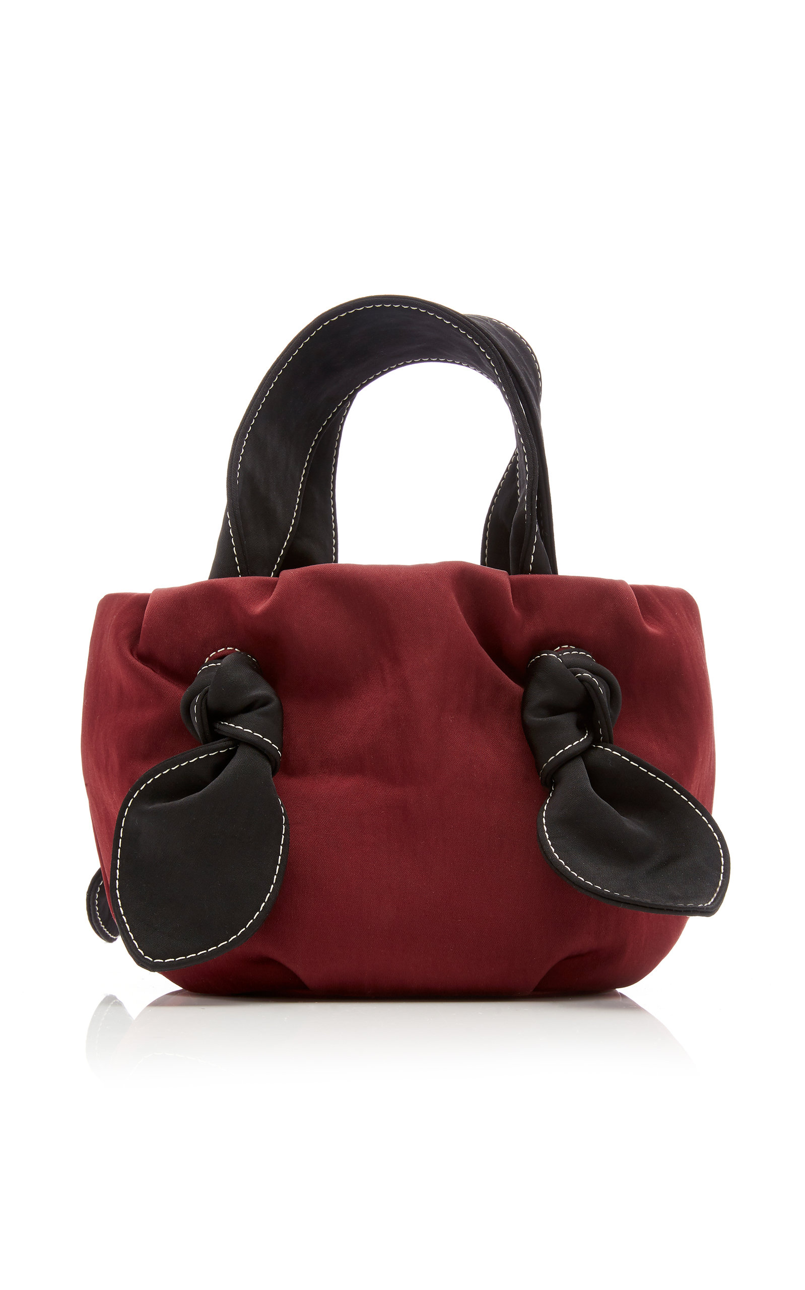 Ronnie Two Tone Knotted Satin Tote by Staud