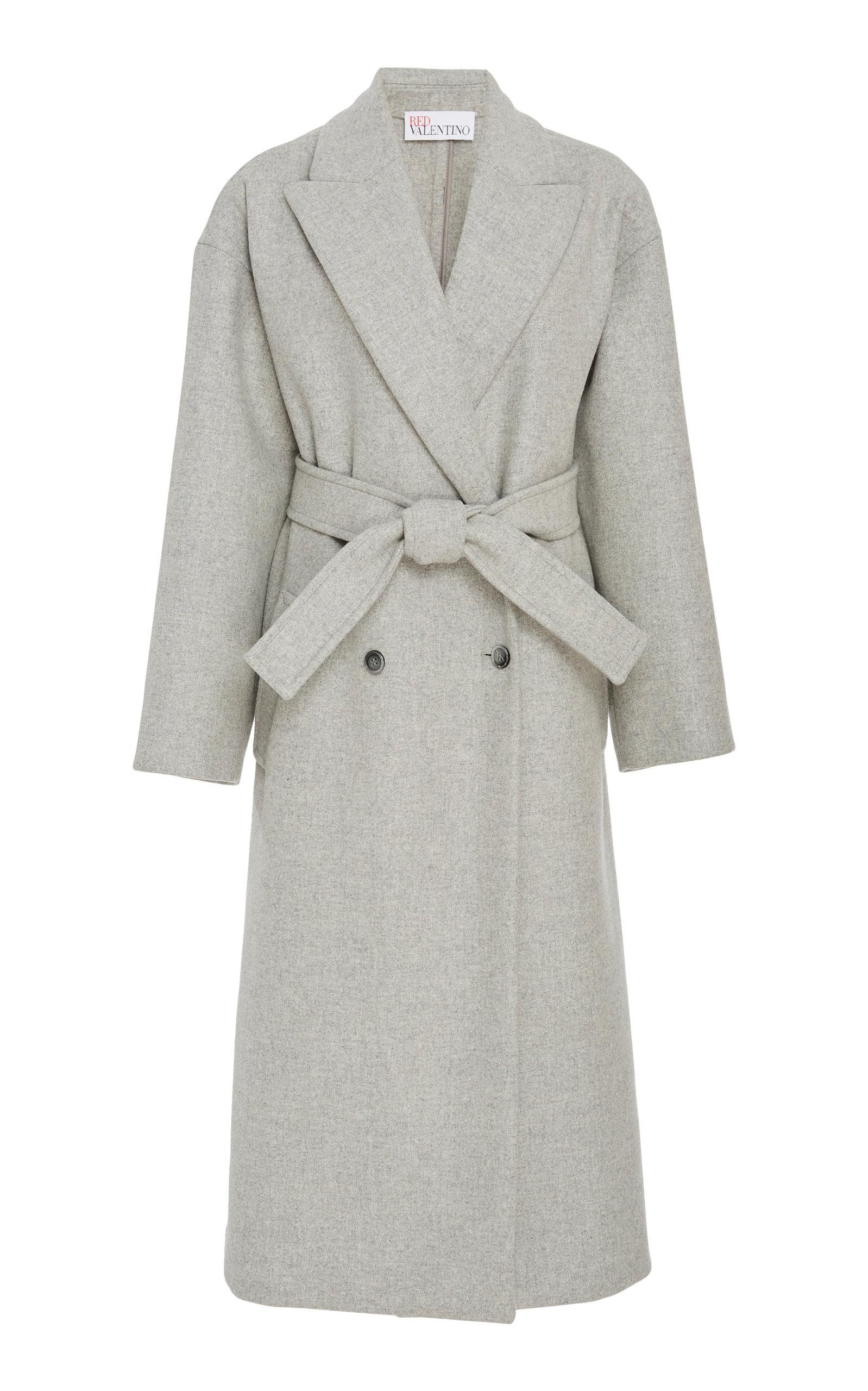 Modesens Herringbone Valentino Grey Coat Tweed Red In Oversized n4HTqvnSwx