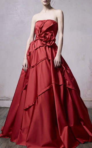 b1820b1a3770 Ended · Jason Wu CollectionRadzmir Strapless Tiered Satin Evening Gown.  $7,595