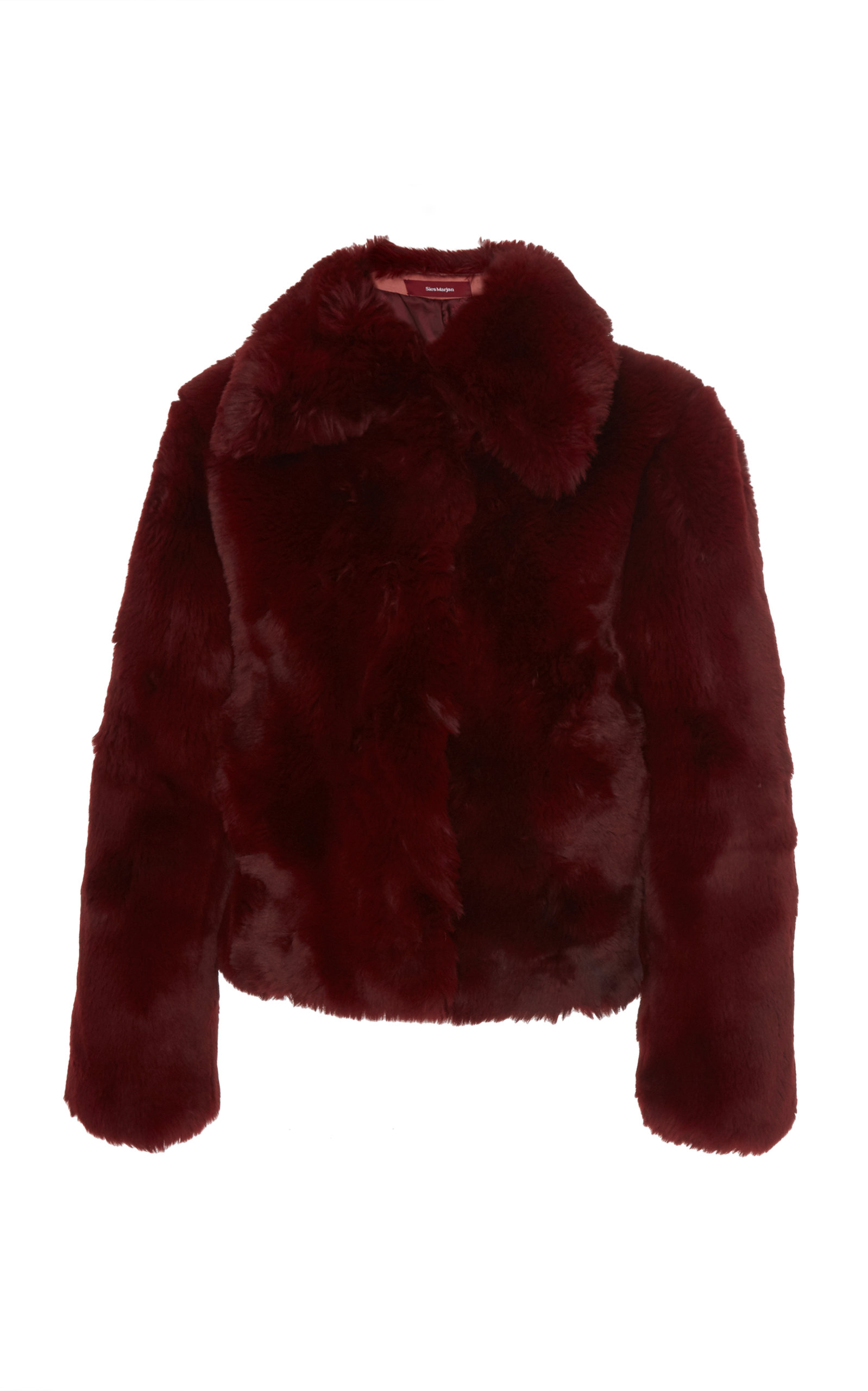 Sies Marjan Jackets Felice Collared Faux Fur Jacket