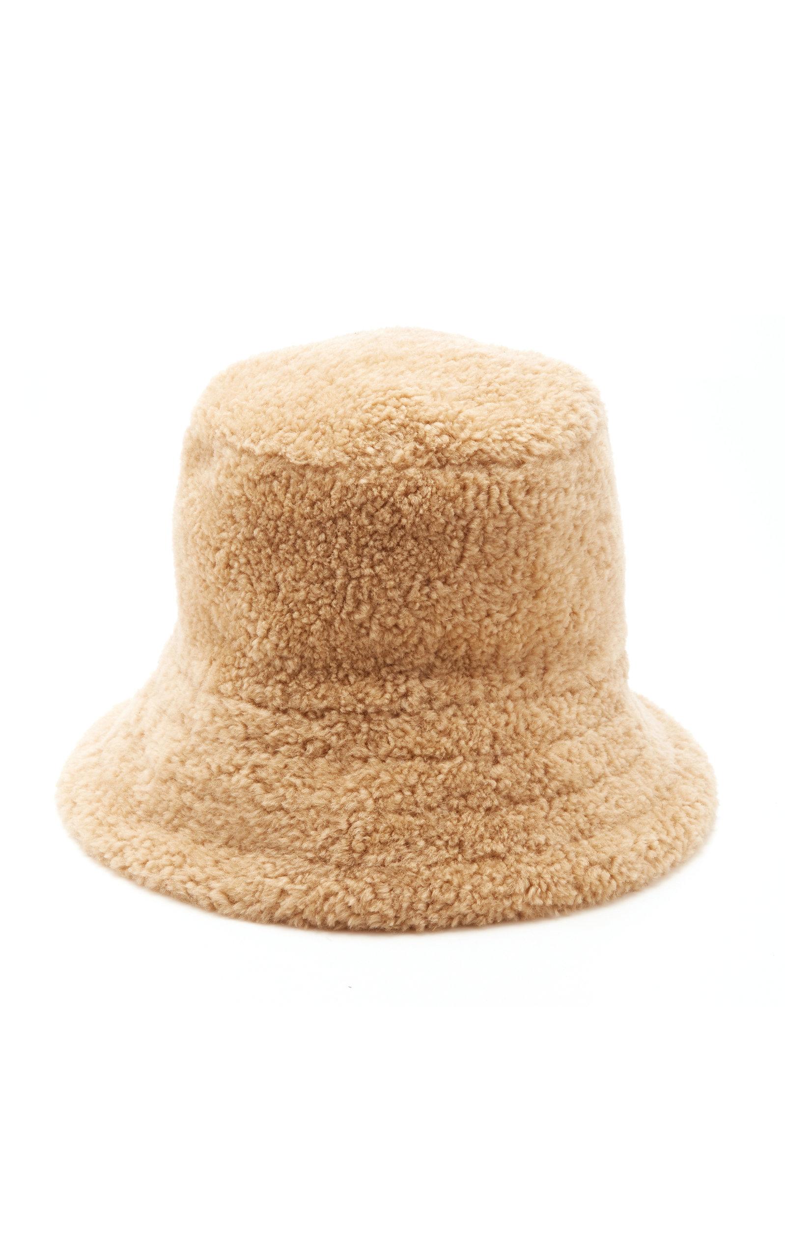 J Mendel Shearling Bucket Hat In Neutral  986bac2eb9c