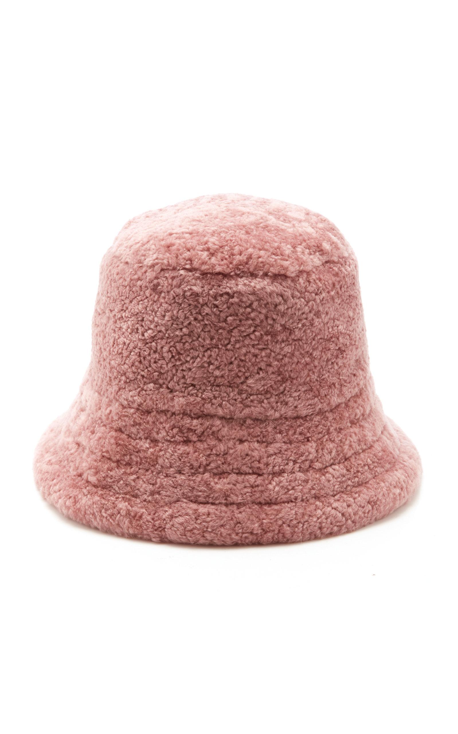 J Mendel Shearling Bucket Hat In Purple  410a01857e0