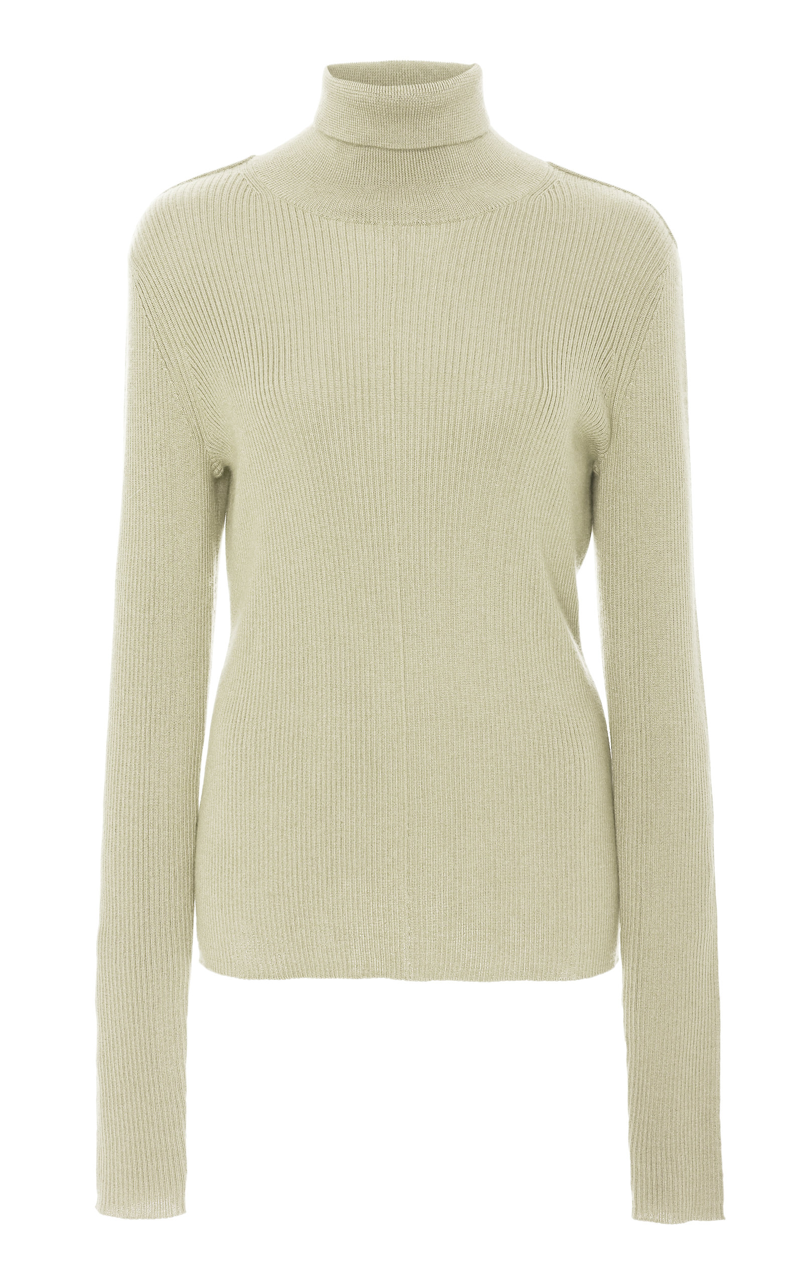 Sally Lapointe Tops RIBBED SILK-CASHMERE TURTLENECK