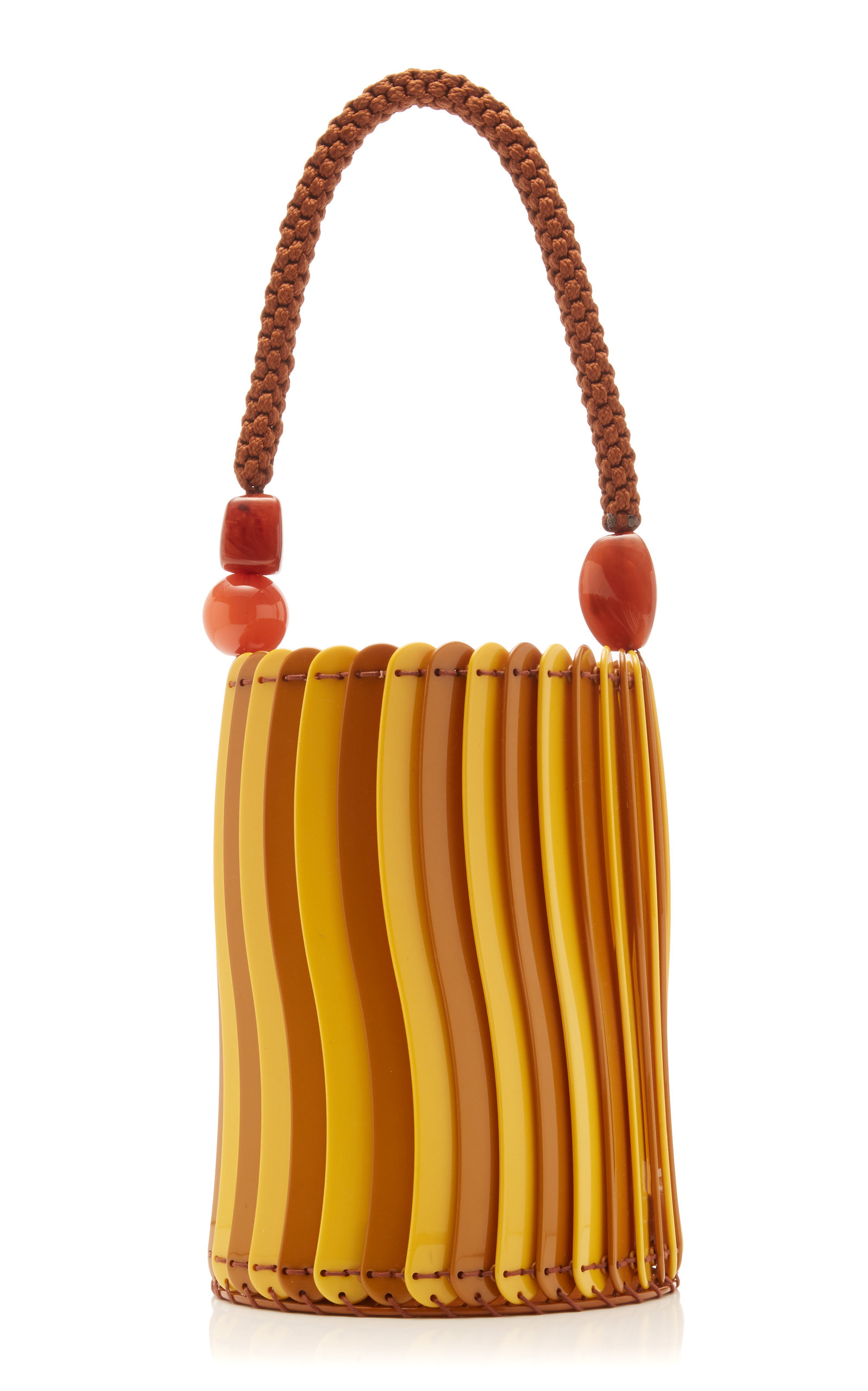 612be6b21d9f Shop Ulla Johnson Asli Resin Basket Bag In Yellow