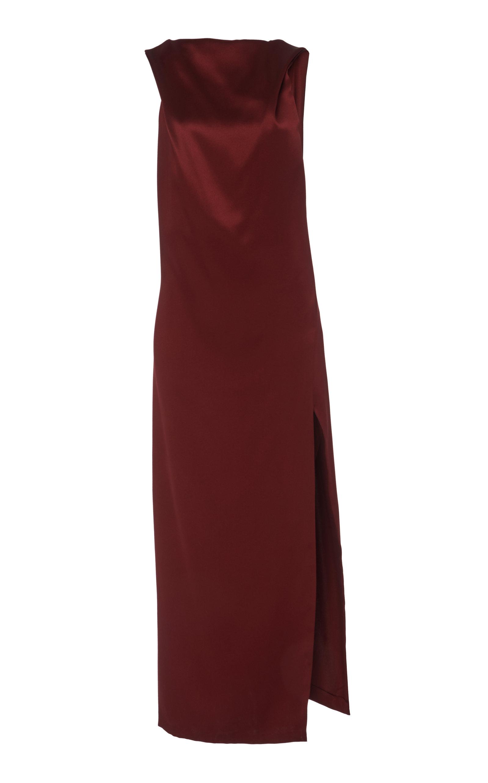 Cushnie Dresses DRAPED CHARMEUSE-SATIN SLIP DRESS