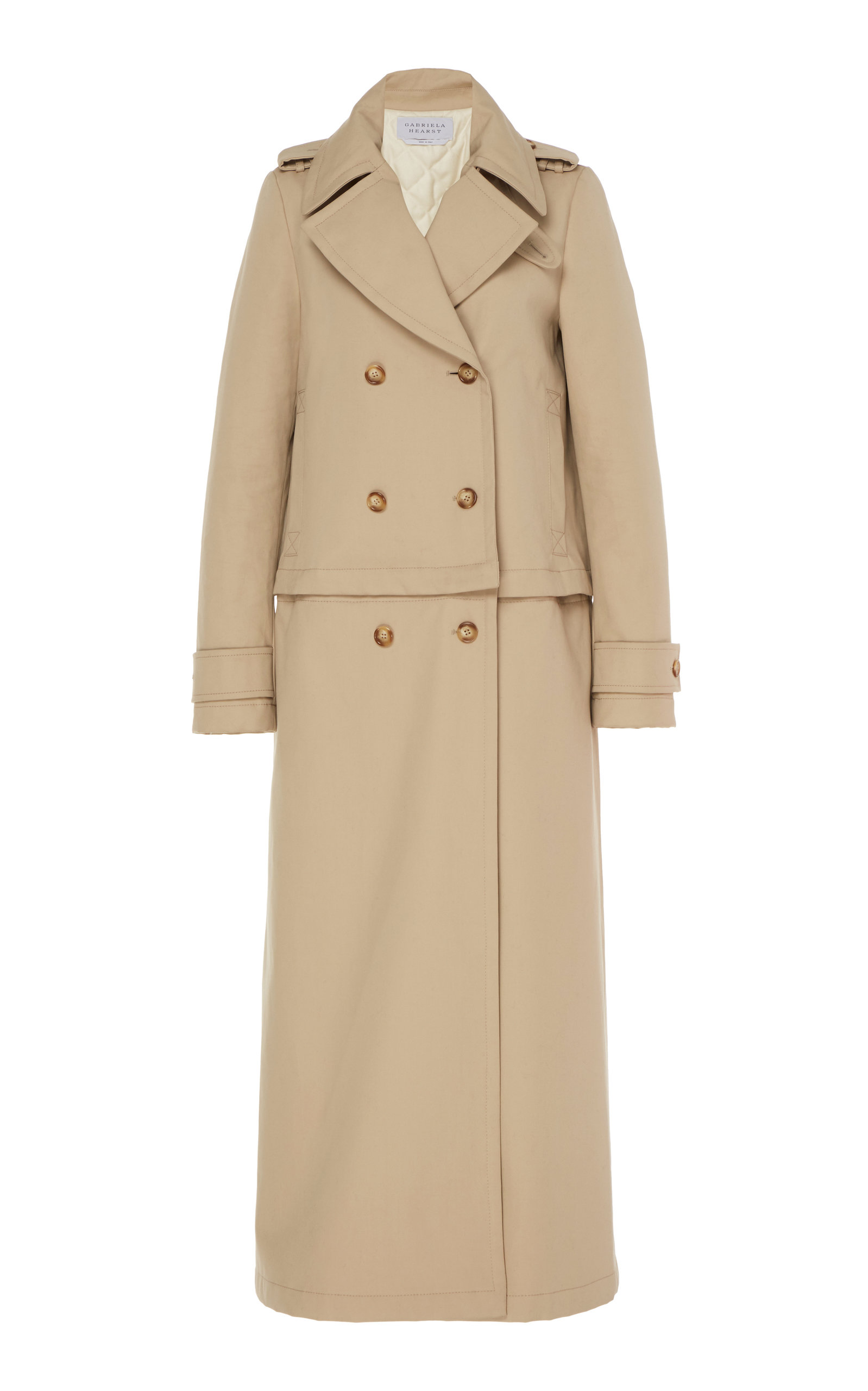 Gabriela Hearst Coats GUSEV DECONSTRUCTED COTTON TRENCH COAT