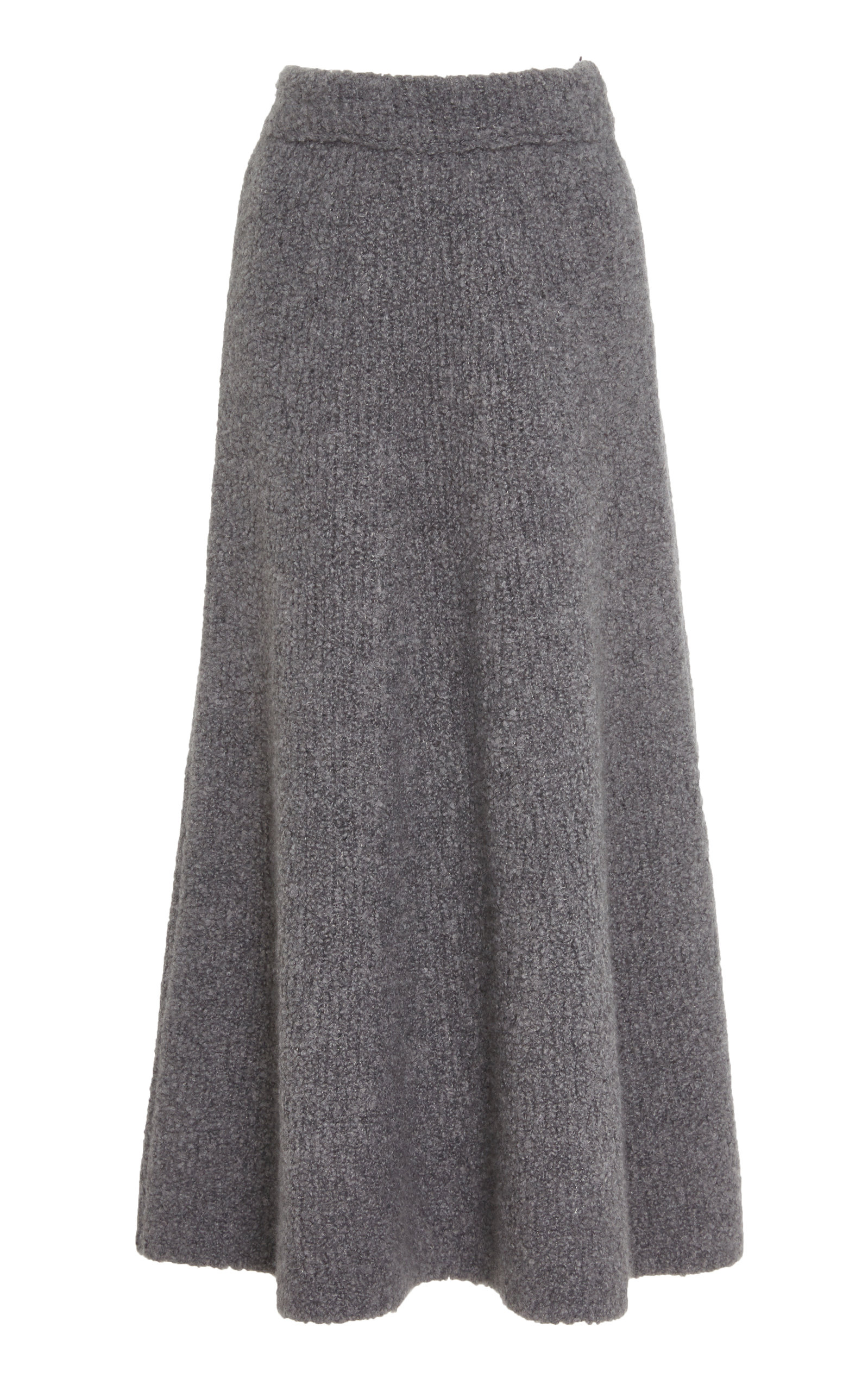 Gabriela Hearst Skirts PABLO SILK AND CASHMERE BOUCLÉ MIDI SKIRT