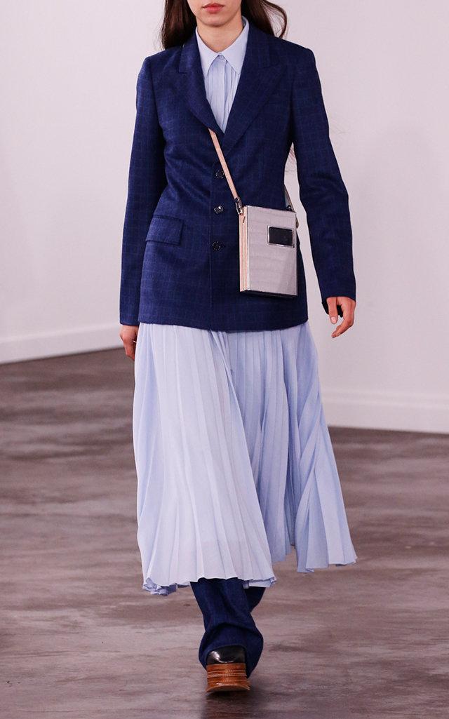 Gabriela Hearst Blazers Angela Checked Sportswear Wool-Blend Blazer