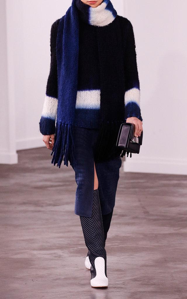 Gabriela Hearst Knits Lawrence Dip-Dye Cashmere Intarsia-Knit Sweater