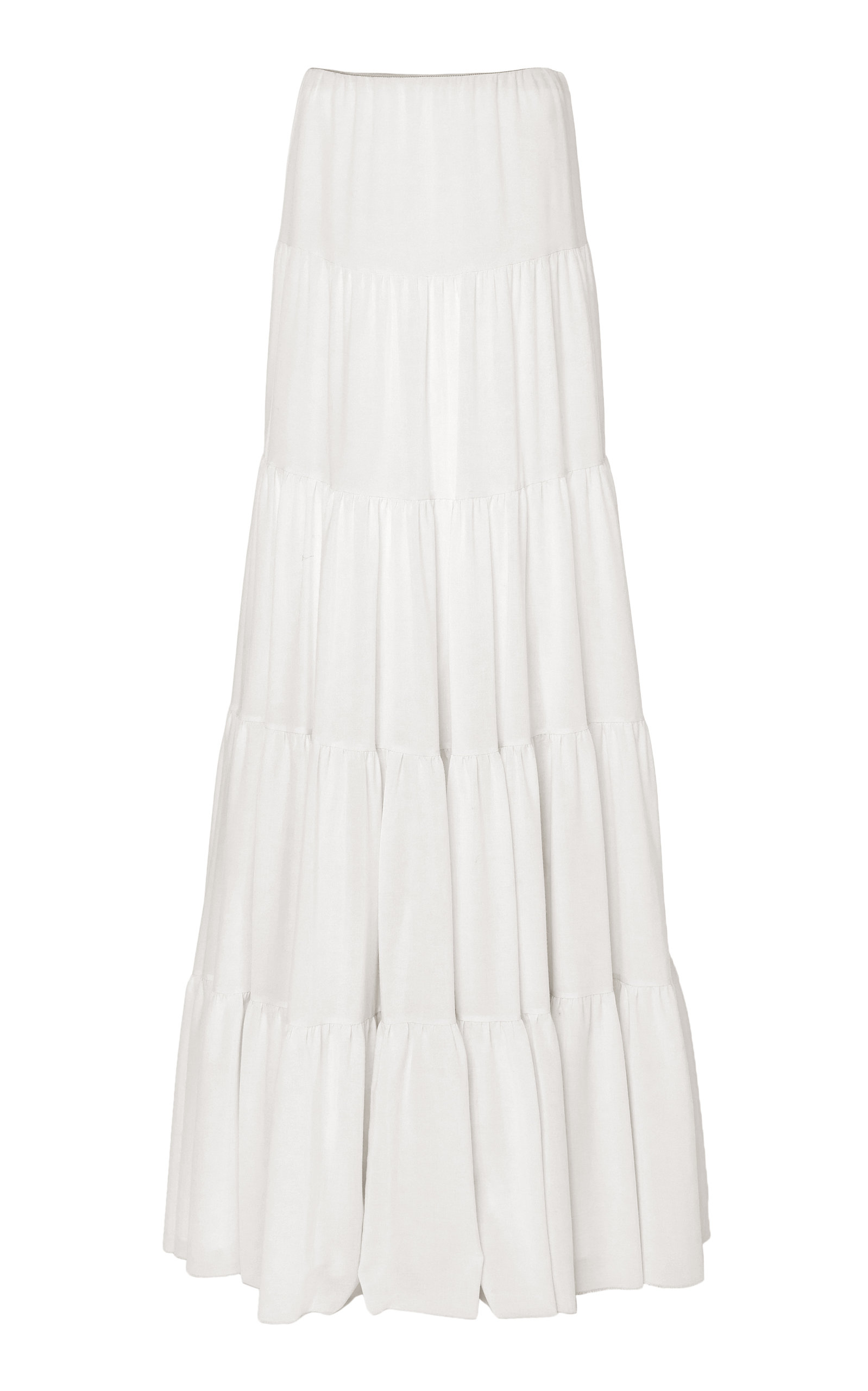 Gabriela Hearst Skirts Mariela Wool And Cashmere Blend Tiered Maxi Skirt