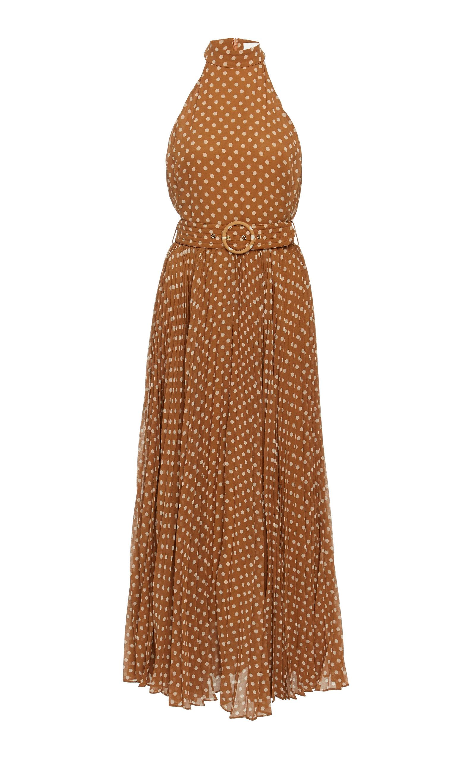 9af6df94ce80 Espionage Polka Dot Pleated Chiffon Dress by Zimmermann | Moda Operandi