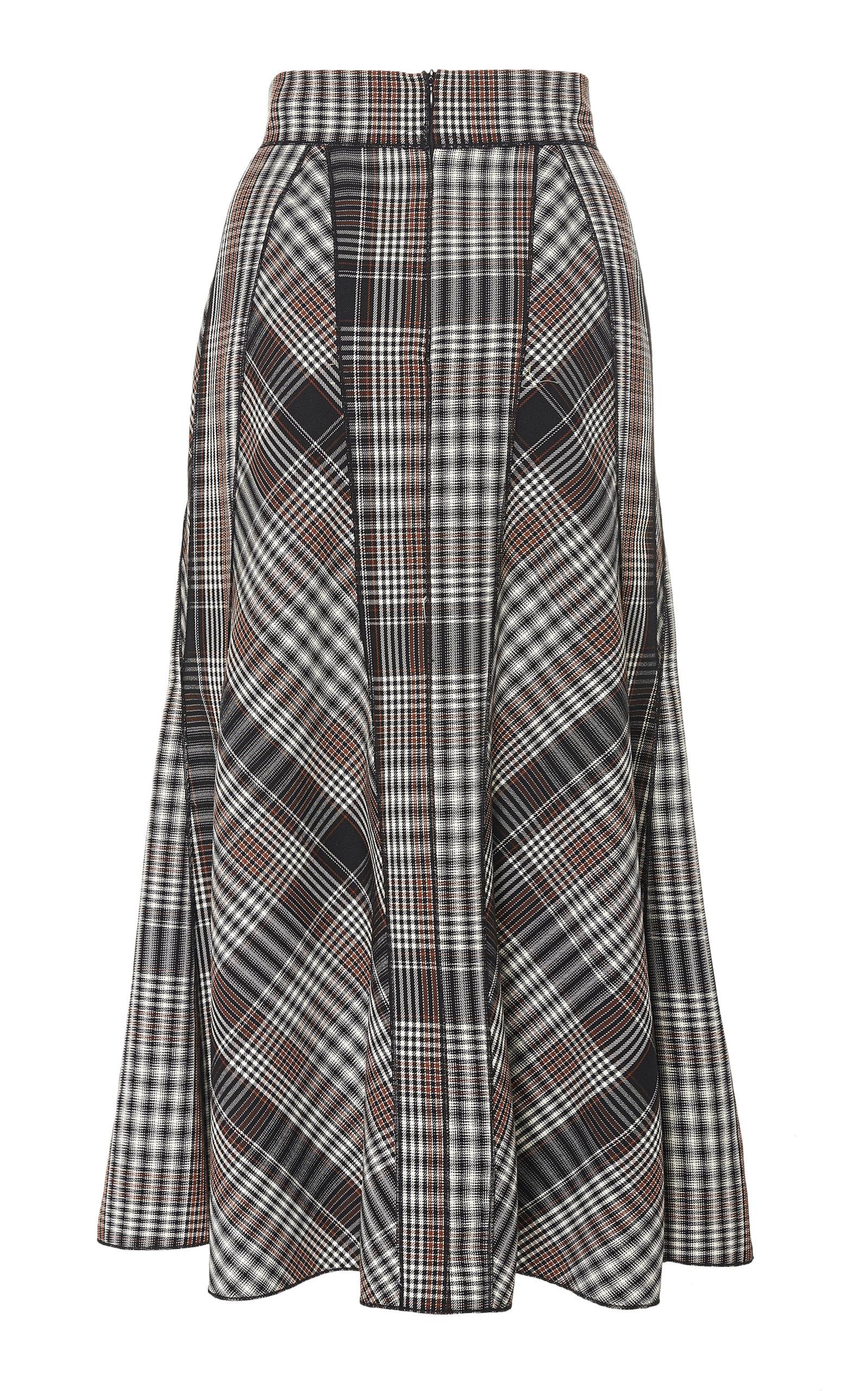 6ecb2e7895 Pleated Plaid Virgin Wool Skirt by Derek Lam   Moda Operandi
