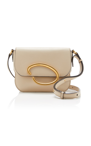 OSCAR DE LA RENTA | Oscar de la Renta Oath Leather Shoulder Bag | Goxip