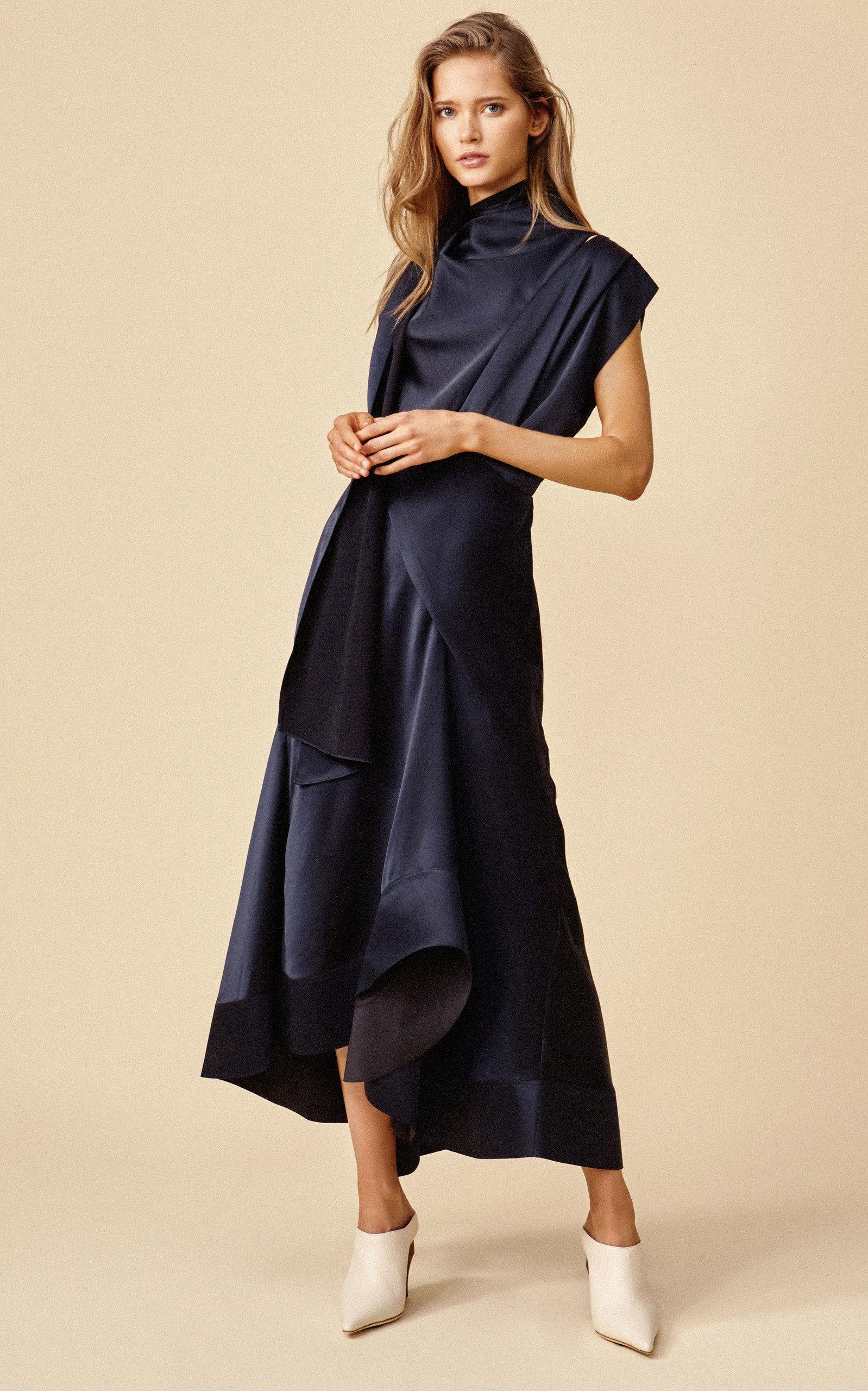 Acler Dresses Dalisay Draped Midi Dress