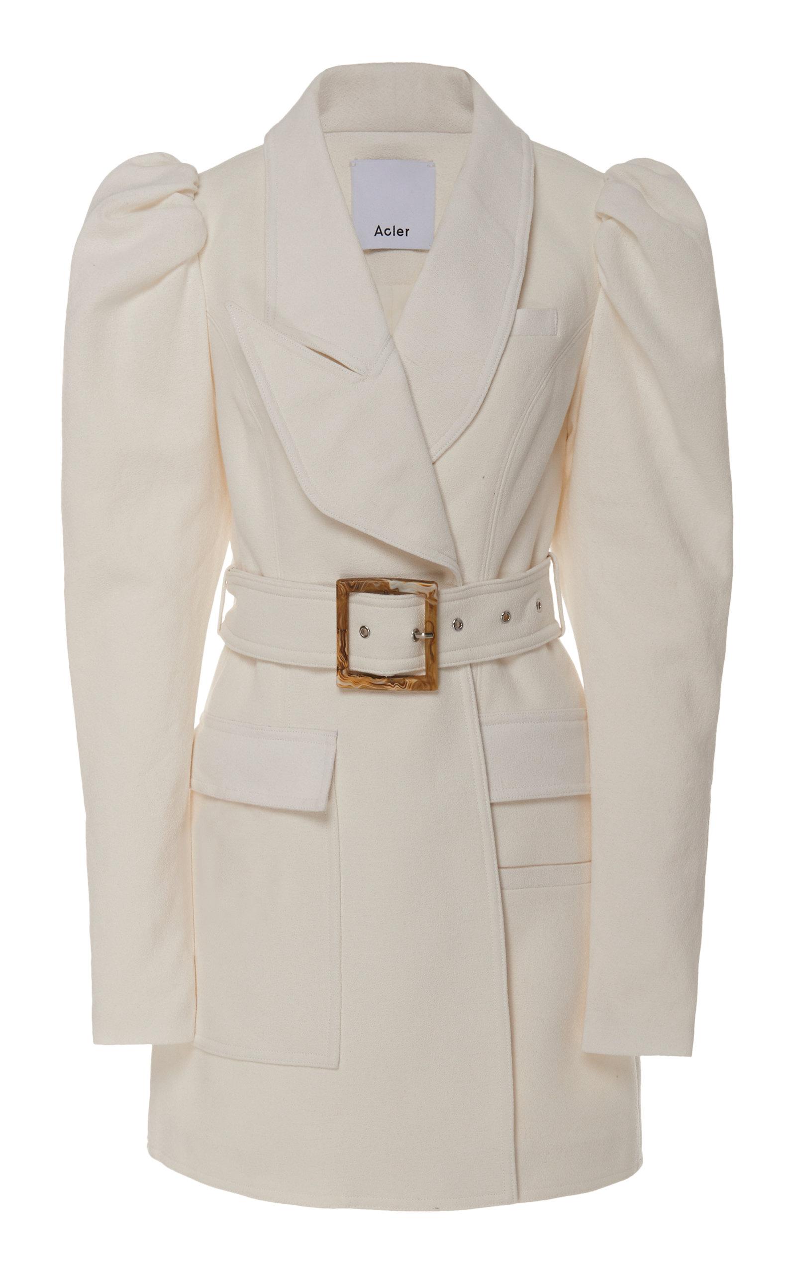 c8e5914b8332 Alameda Puffed-Shoulder Belted Blazer Dress by Acler | Moda Operandi